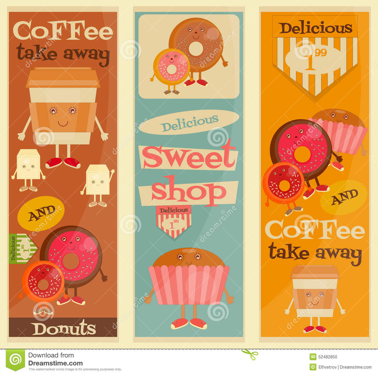 cafe sweet shop stock vector image of posters snack 52482850. Black Bedroom Furniture Sets. Home Design Ideas