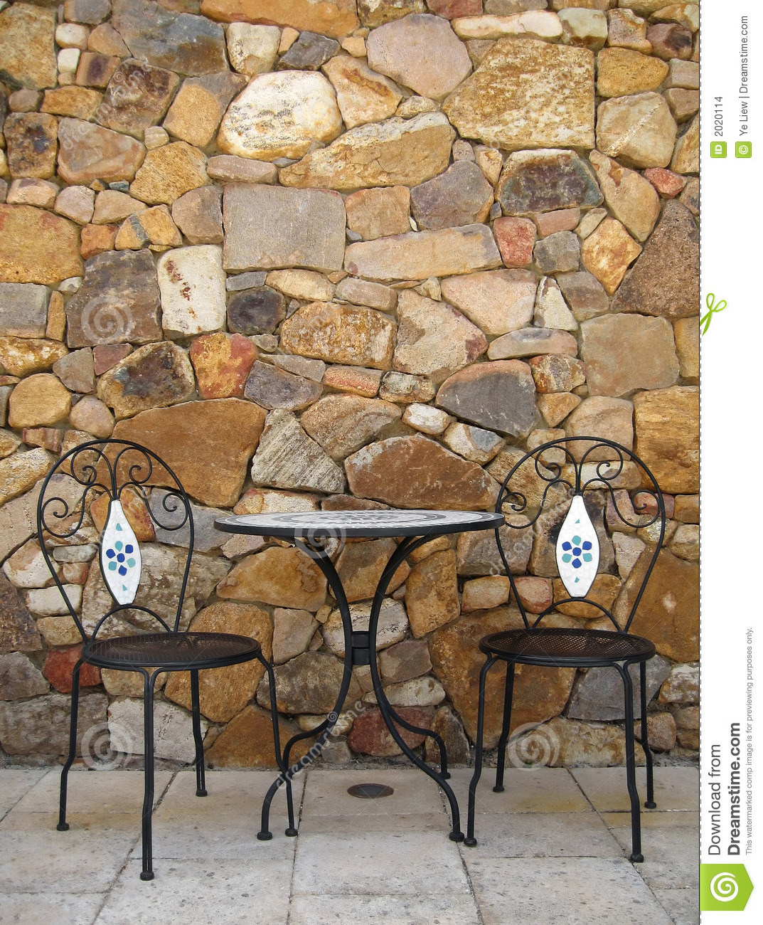 Cafe Table and Chairs stock photo Image of rest bistro