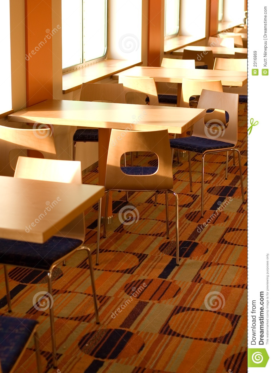 Cafe Table And Chairs Stock Image Image Of Interior Wooden 2316869
