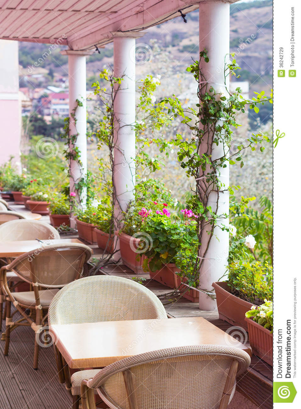 Cafe terrace royalty free stock images image 36242729 - Decoratie terrace ...