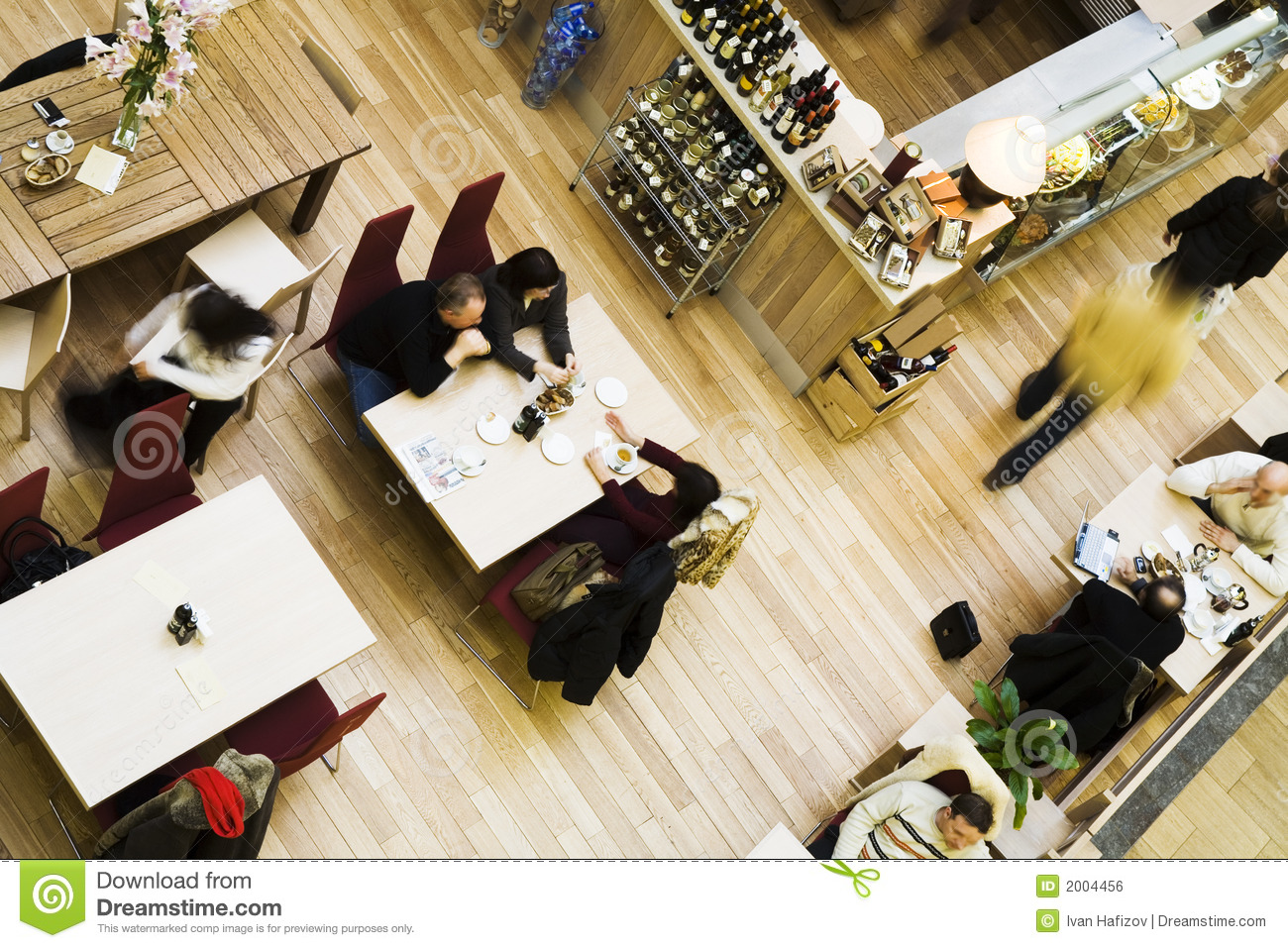 Cafe, top view