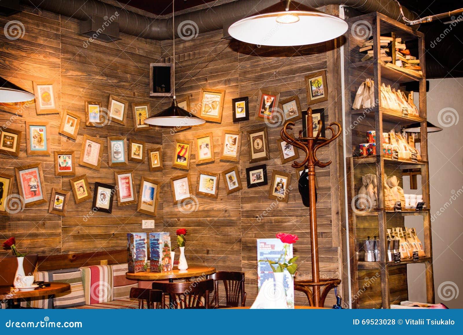 Cafe In Vintage Style Lvov Ukraine Editorial Stock