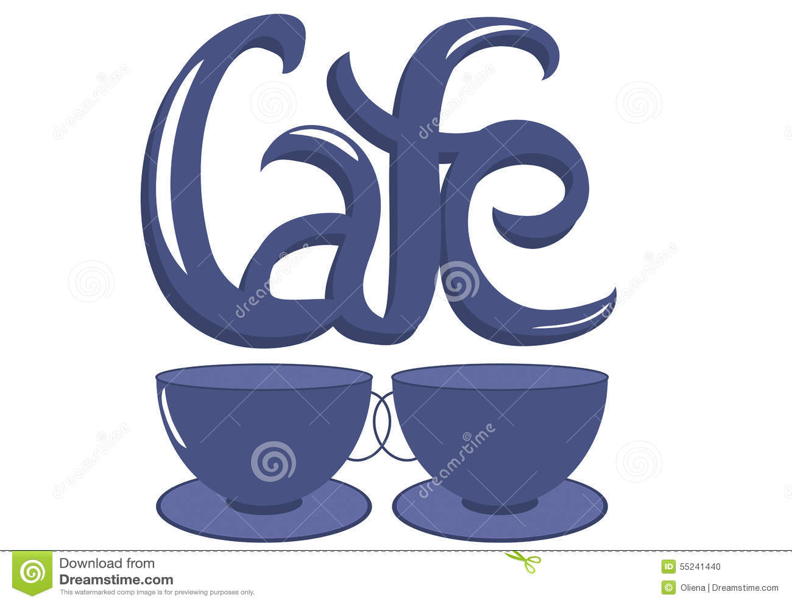Cafe Word Stock Illustration