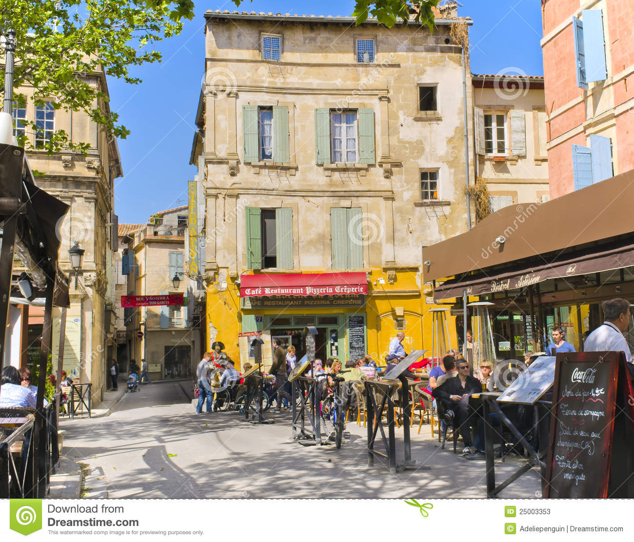 Arles France  city images : Cafes, Arles France Editorial Stock Photo Image: 25003353