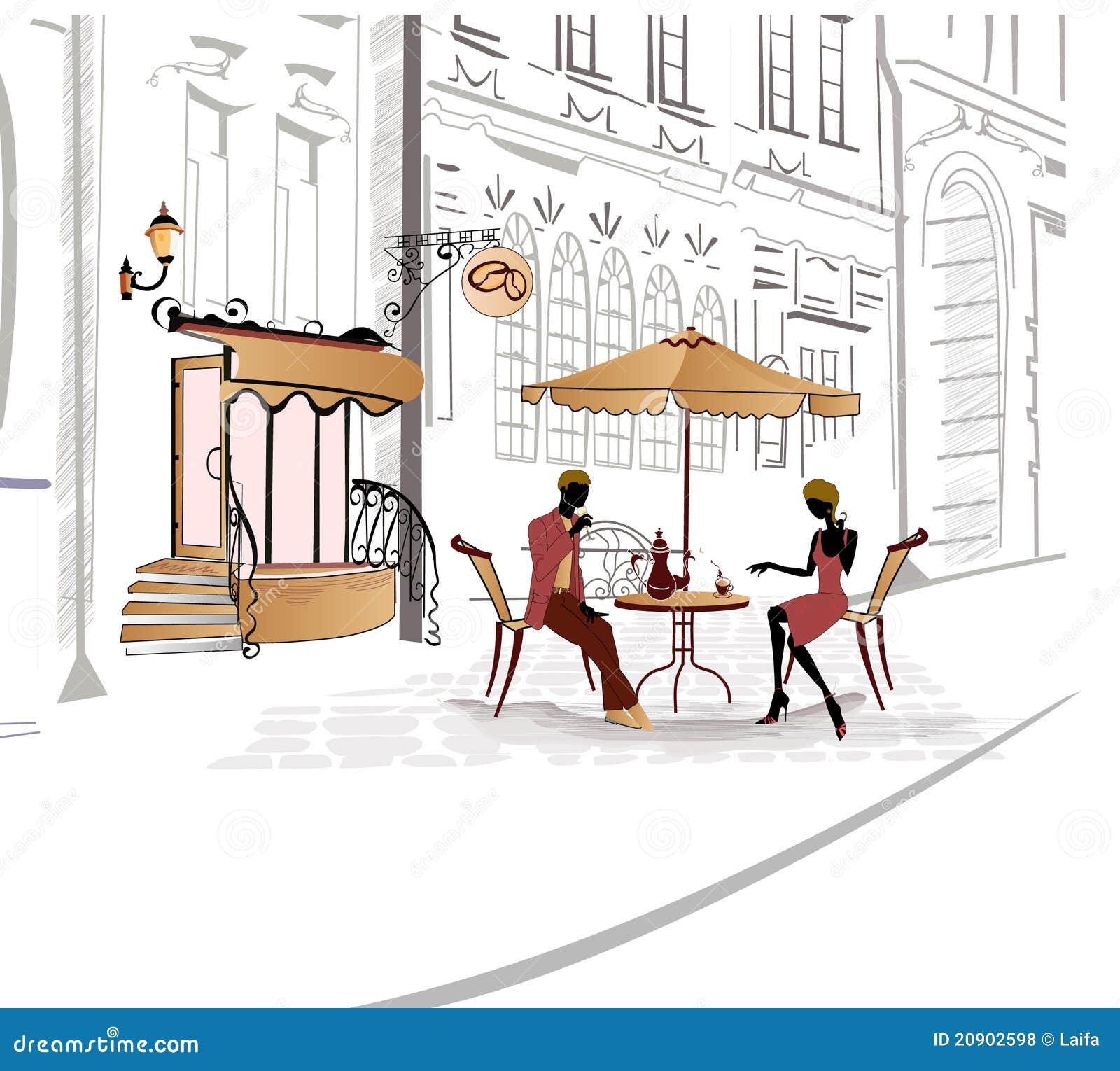 Cafeserien skissar gator