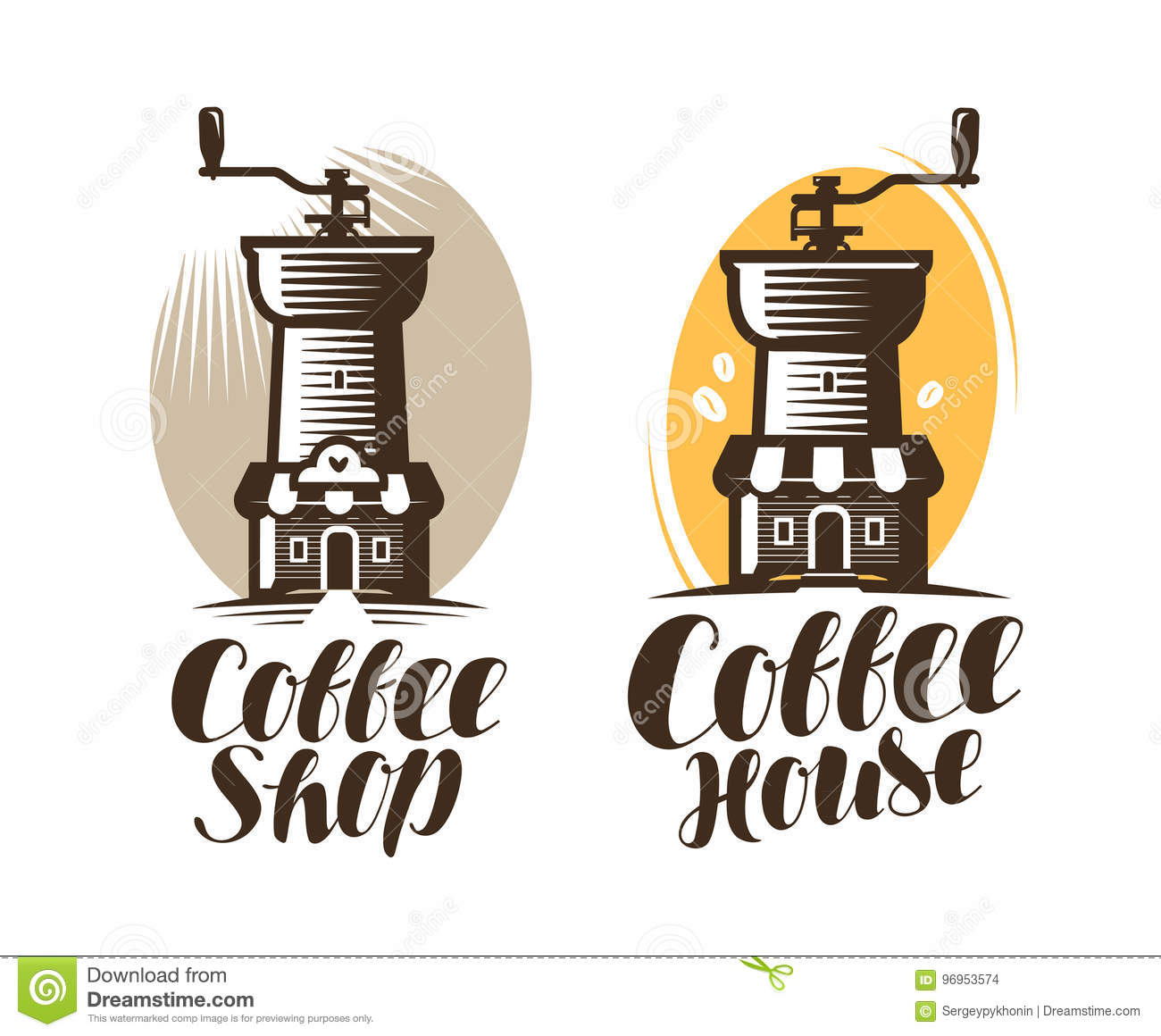 Cafeteria, Coffee House, Cafe Logo Or Label. Hot Drink