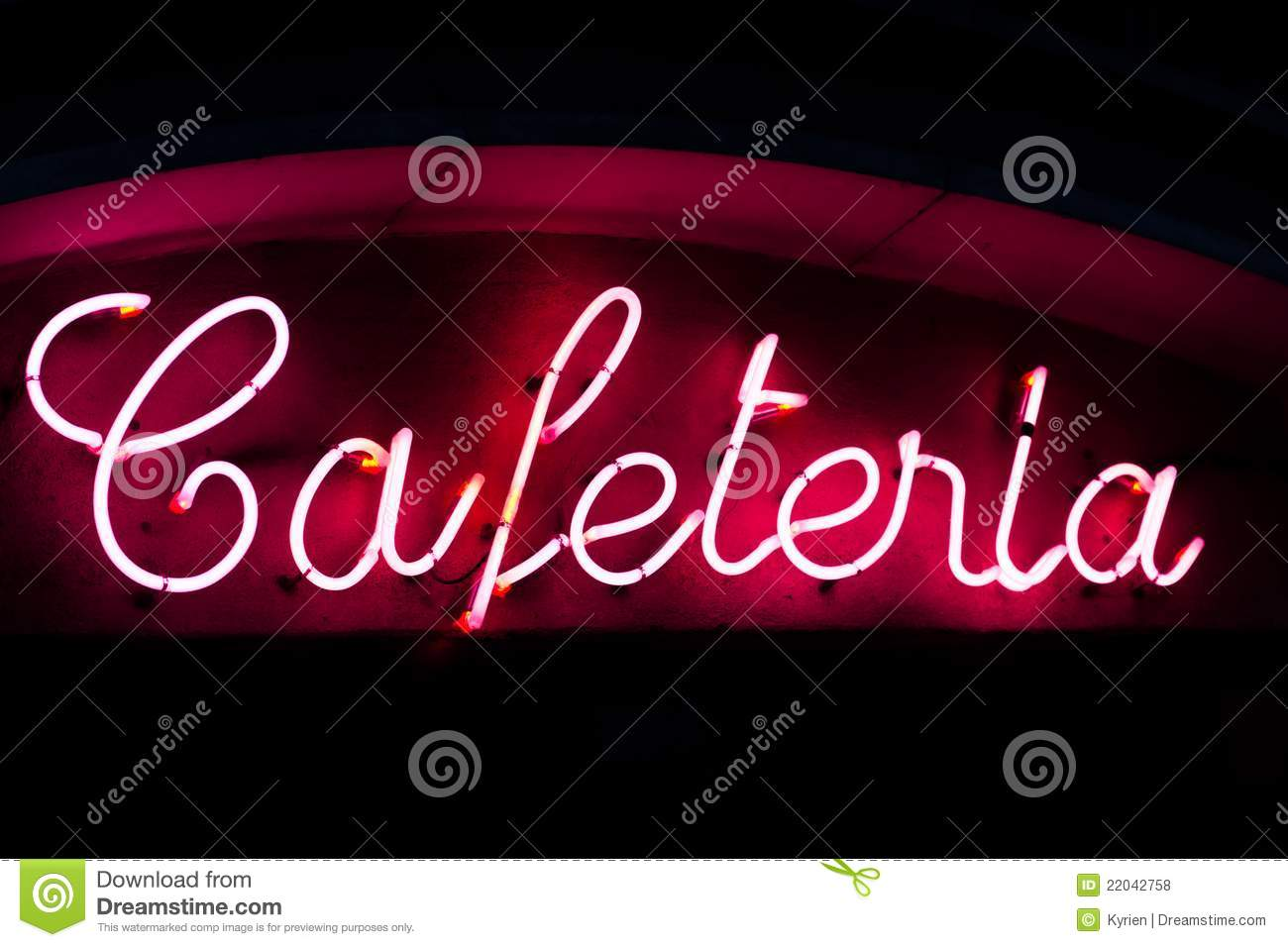 Cafeteria Neon Sign Royalty Free Stock Photos Image