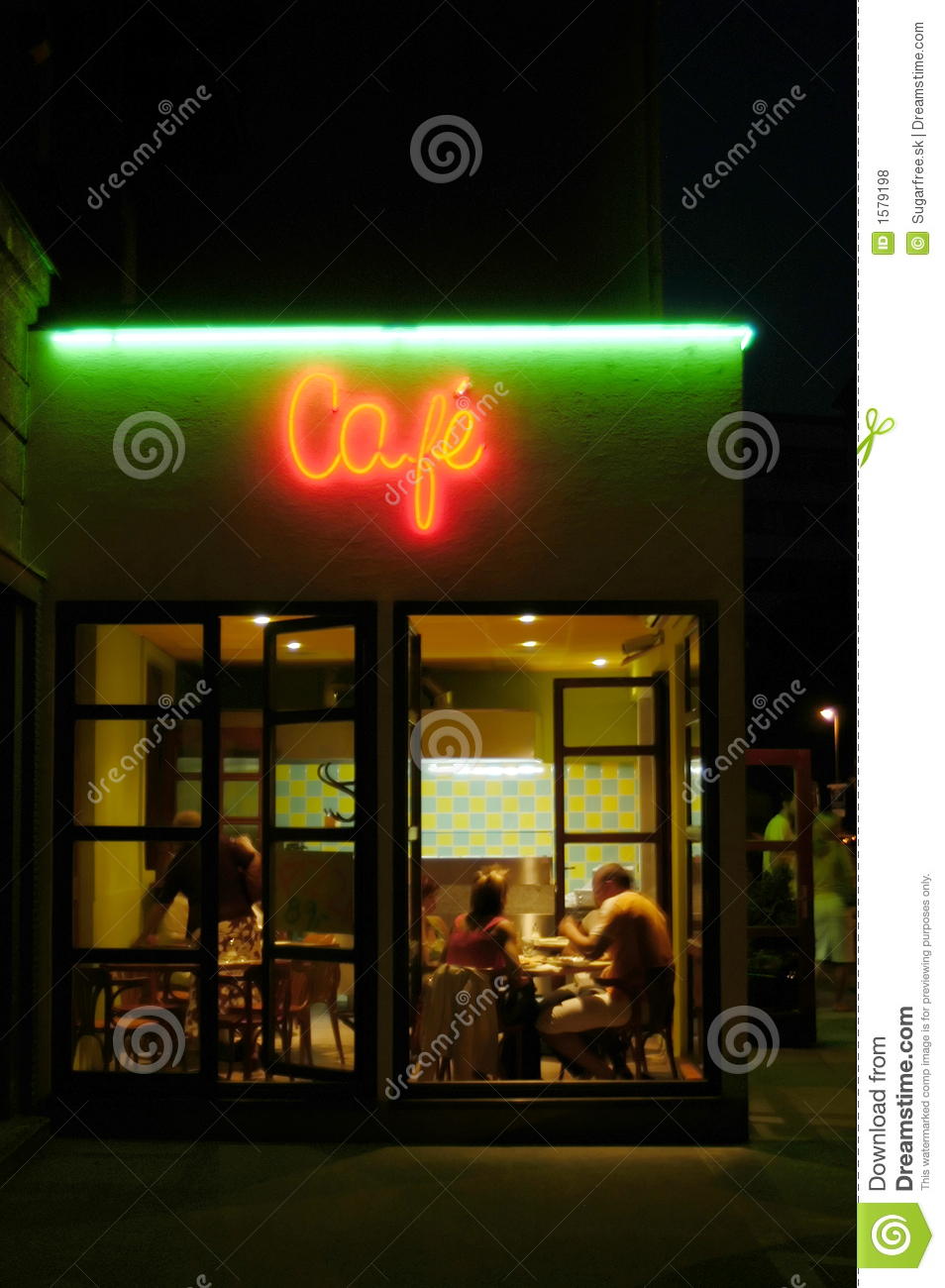 Cafeteria by night