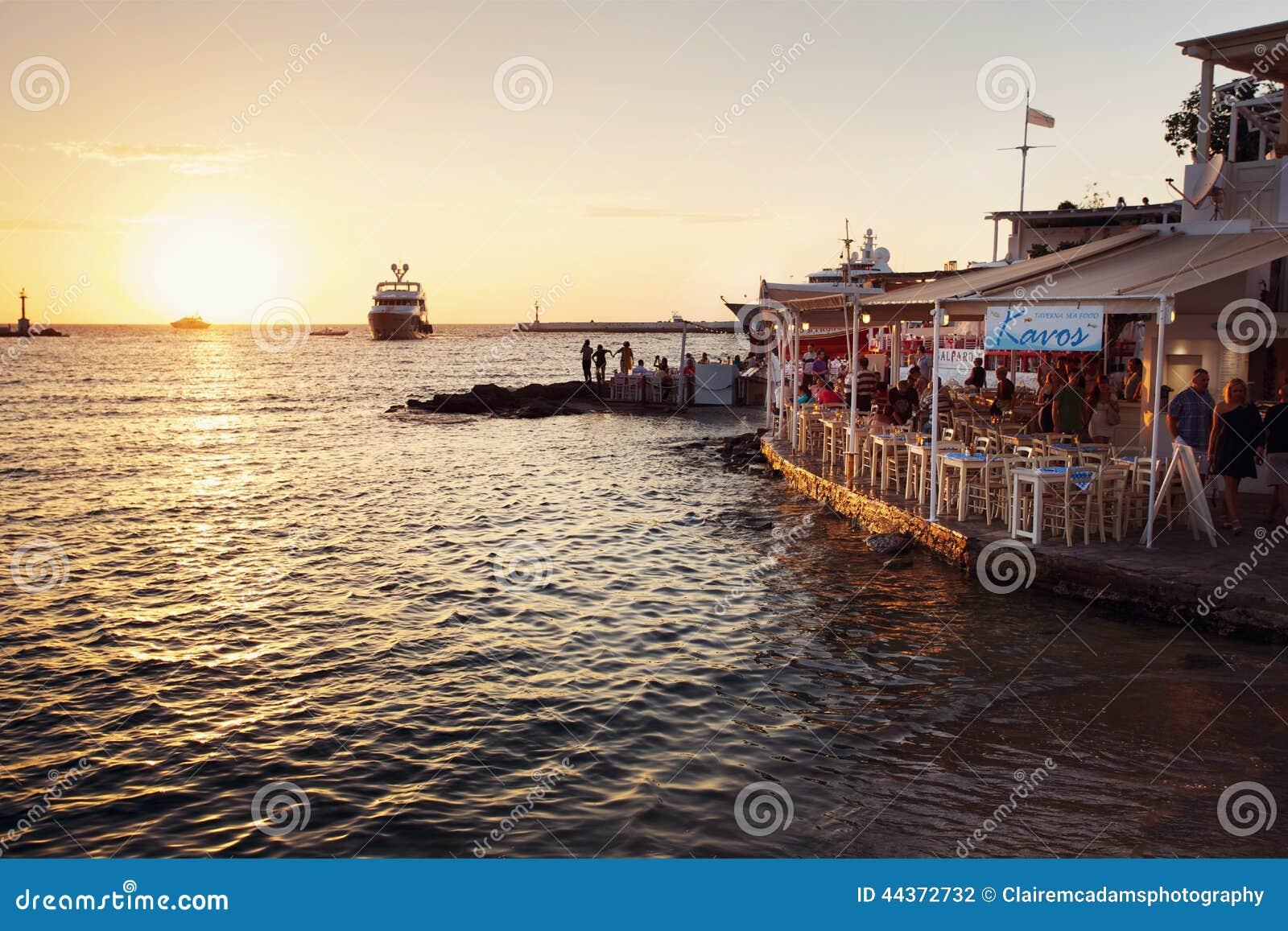 Caffè al tramonto, Mykonos Grecia