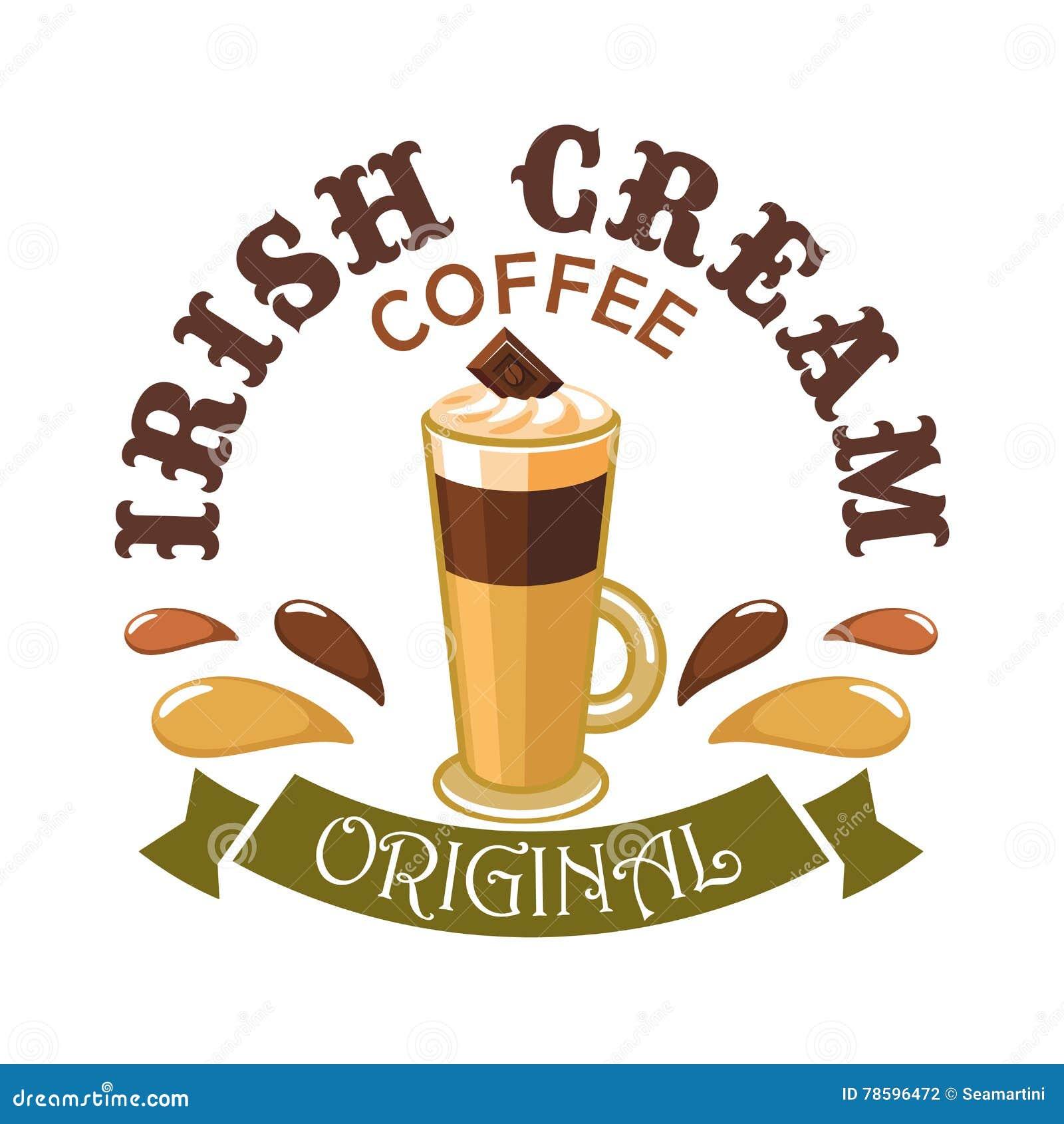 Caffè crema irlandese Emblema del caffè