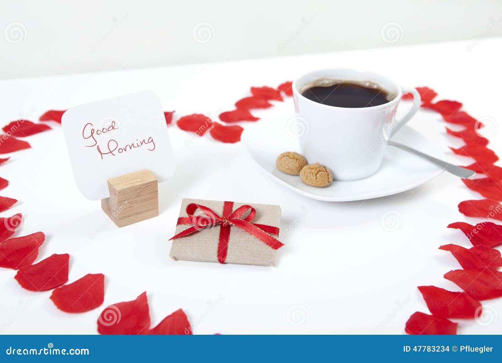 Caffè Del Cuore Di Buongiorno Fotografia Stock Immagine Di