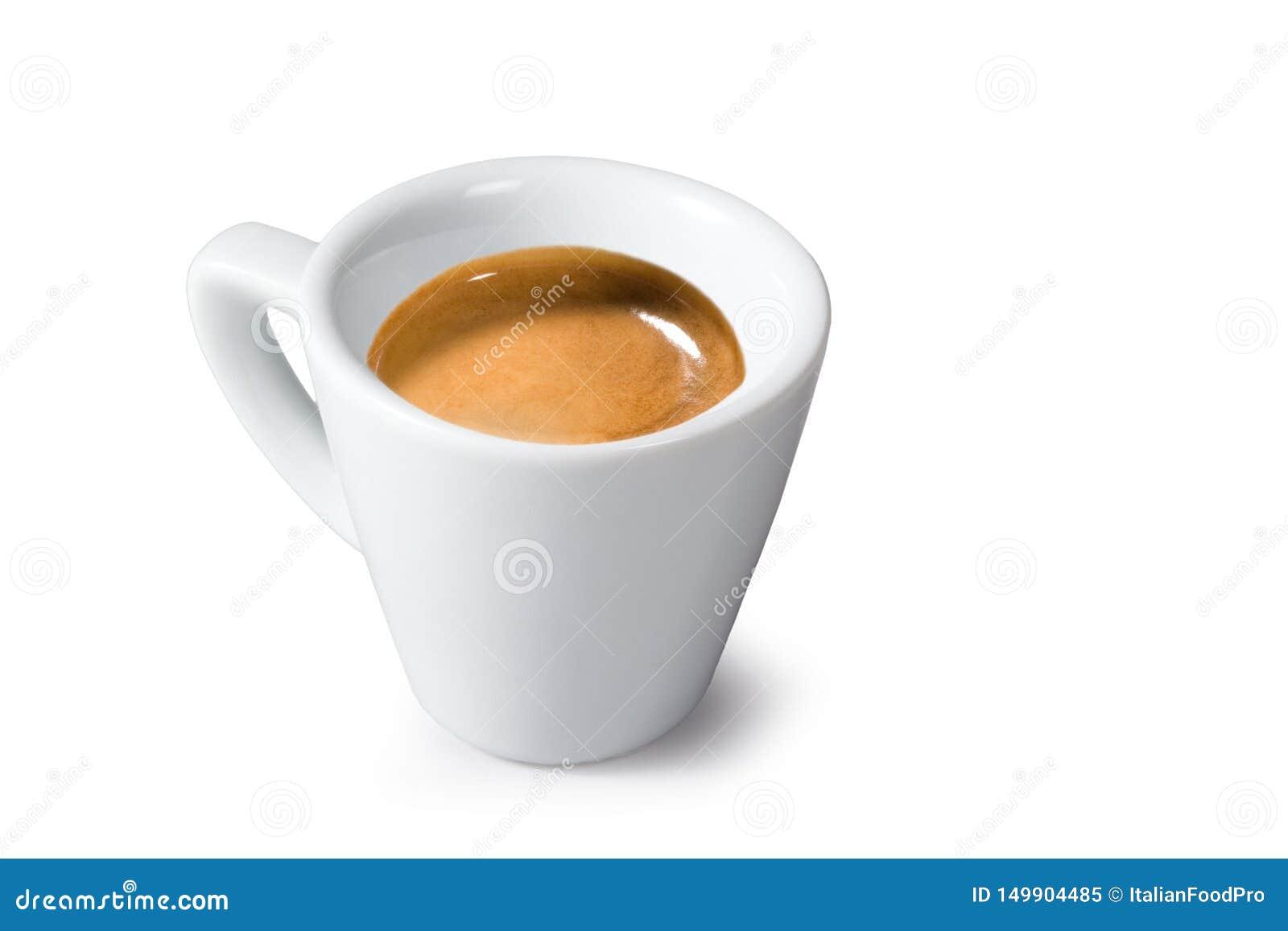"Caffè del caffè espresso – ""caffè espresso di Caffè ""su fondo bianco"