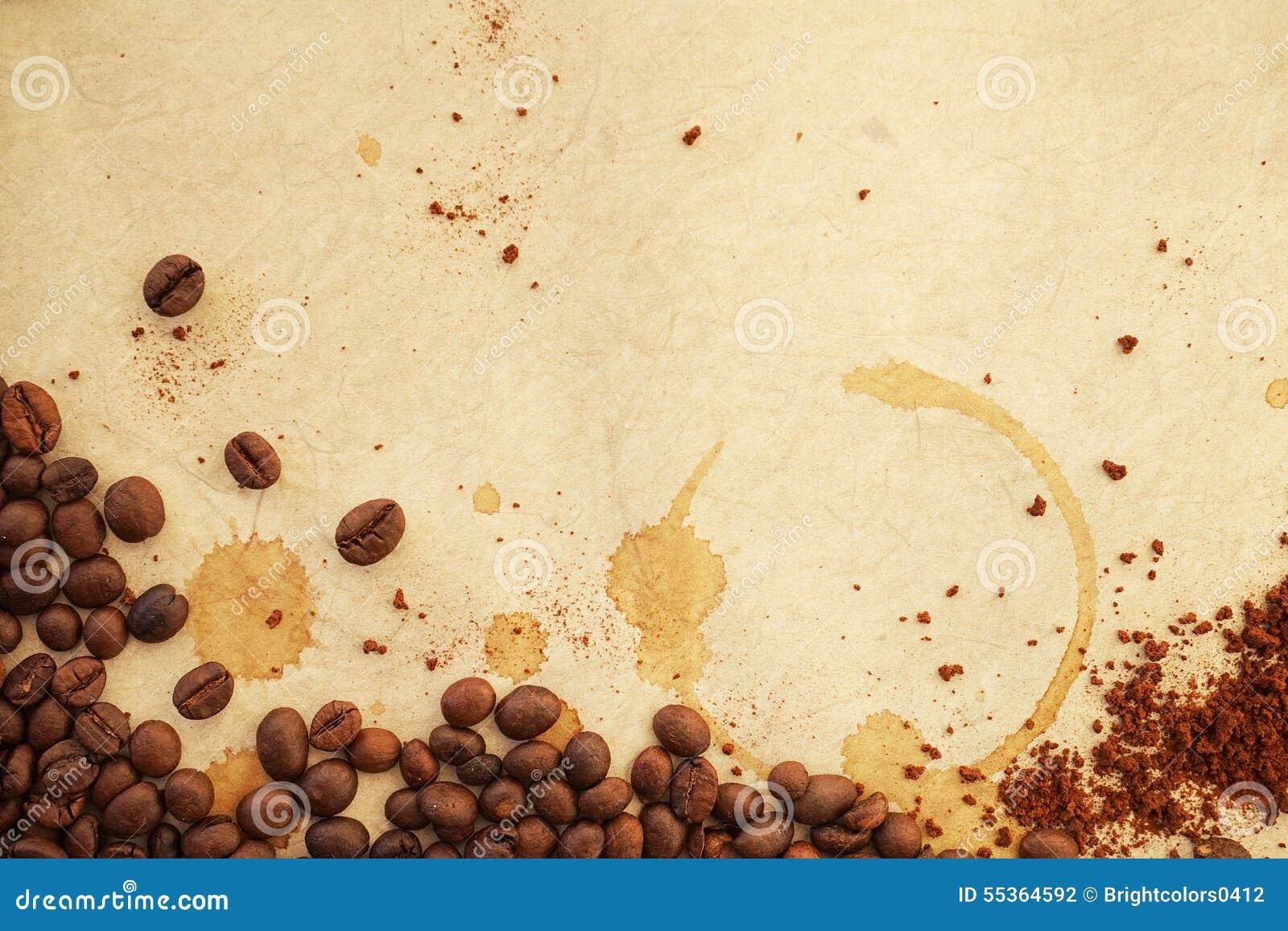 Caffè su vecchia carta