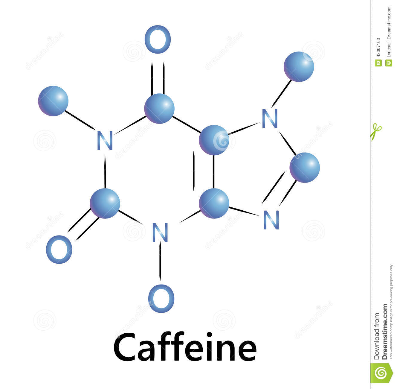 caffeine-chemical-molecule-structure-ect