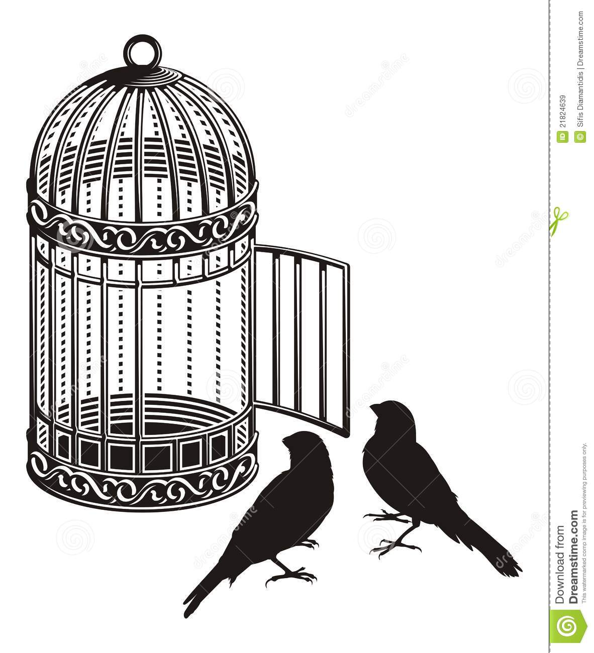 cage d 39 oiseau illustration de vecteur image du m tallique 21824639. Black Bedroom Furniture Sets. Home Design Ideas