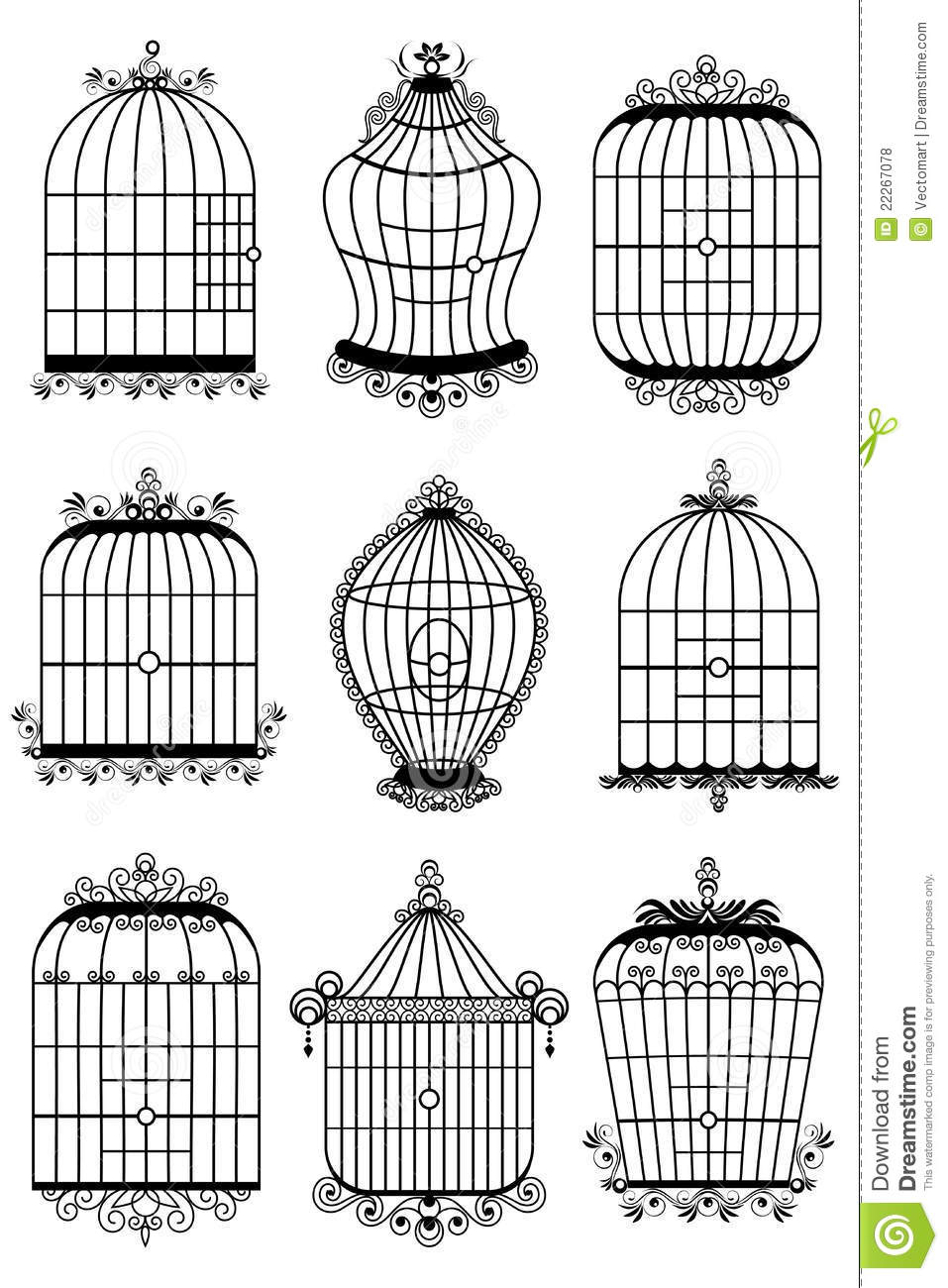 cage d 39 oiseau photos libres de droits image 22267078. Black Bedroom Furniture Sets. Home Design Ideas