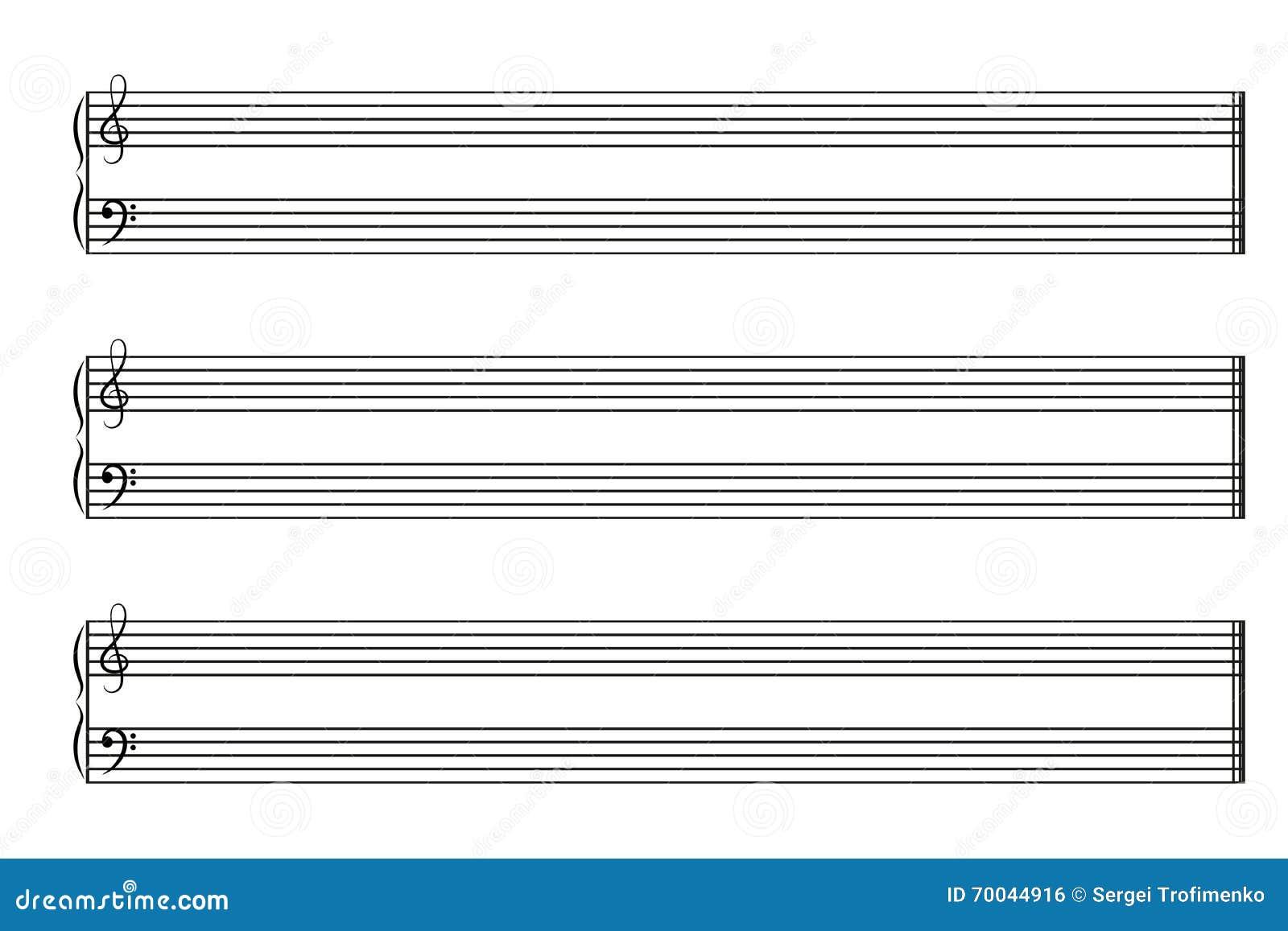 Cahier de musique de feuille avec les barres horizontales illustration de vecteur illustration - Feuille de musique a imprimer ...