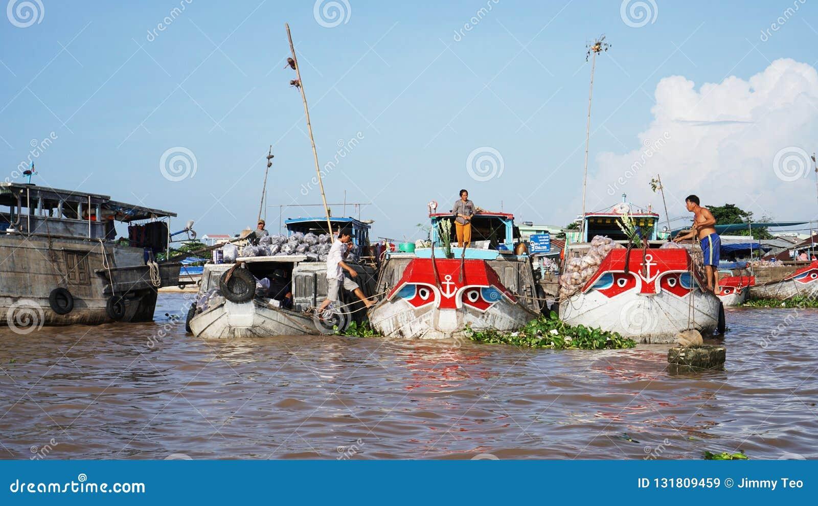 Cai Rang Floating Market Mekong-de Delta kan binnen Tho Vietnam