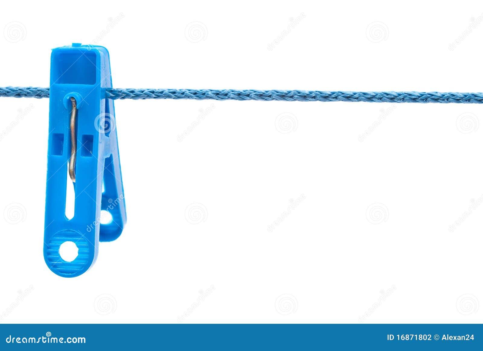 Cair do Clothespin em um cabo