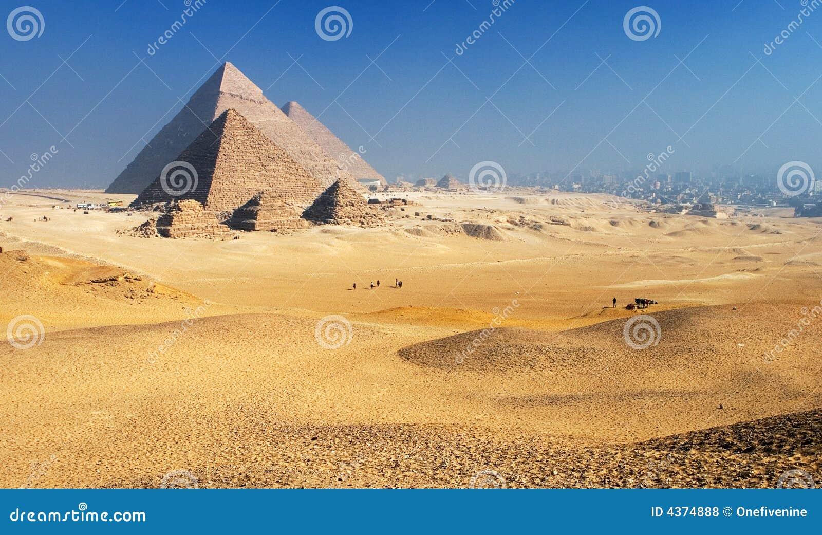 Cairo giza plateau pyramids