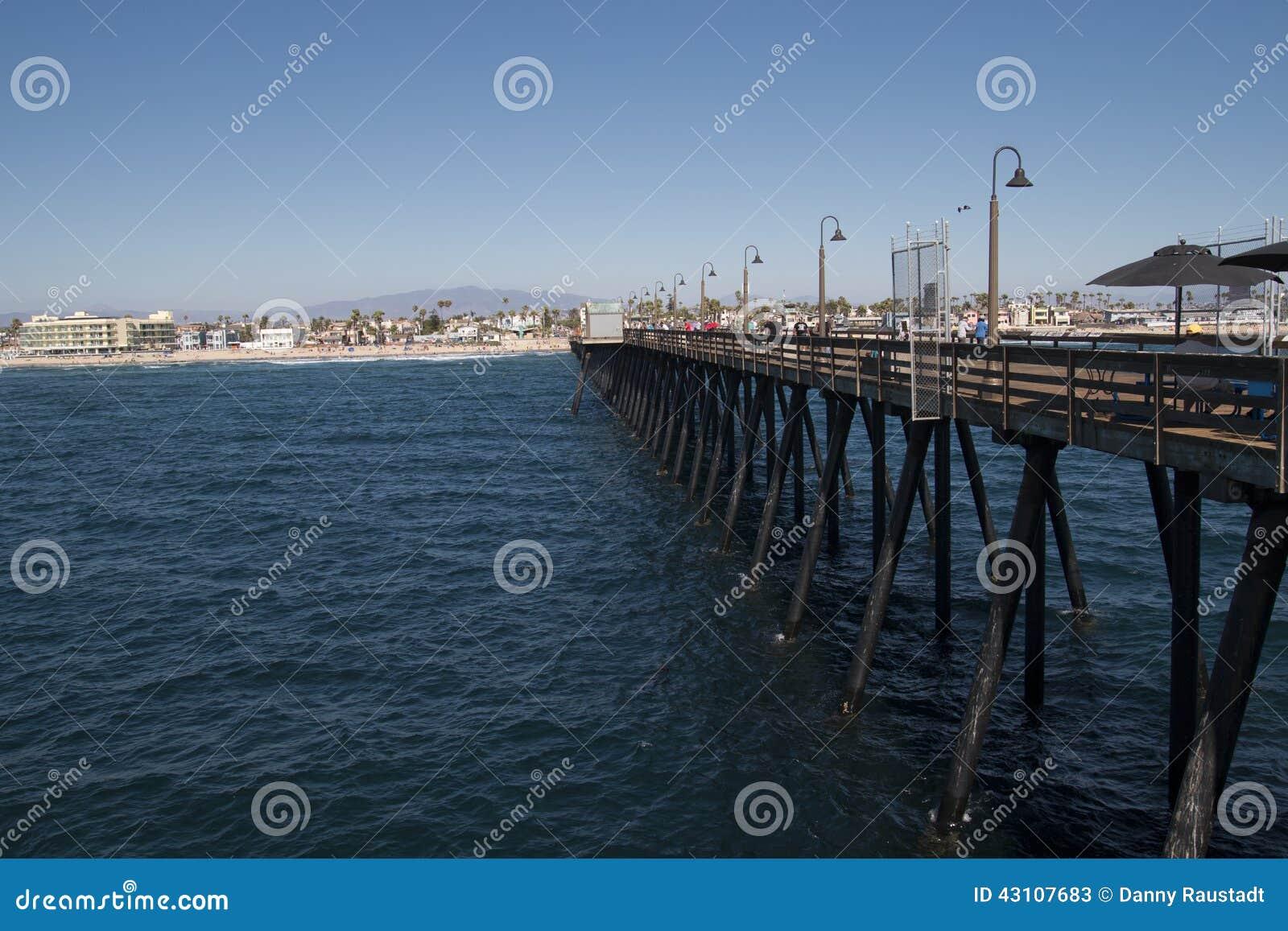 Cais imperial próximo San Diego do centro da praia, Califórnia