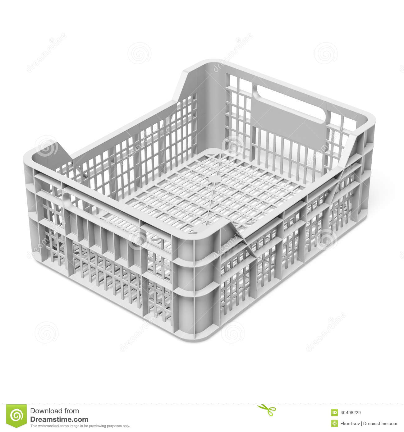 Caisse blanche vide illustration stock image 40498229 for Prix d un conteneur vide