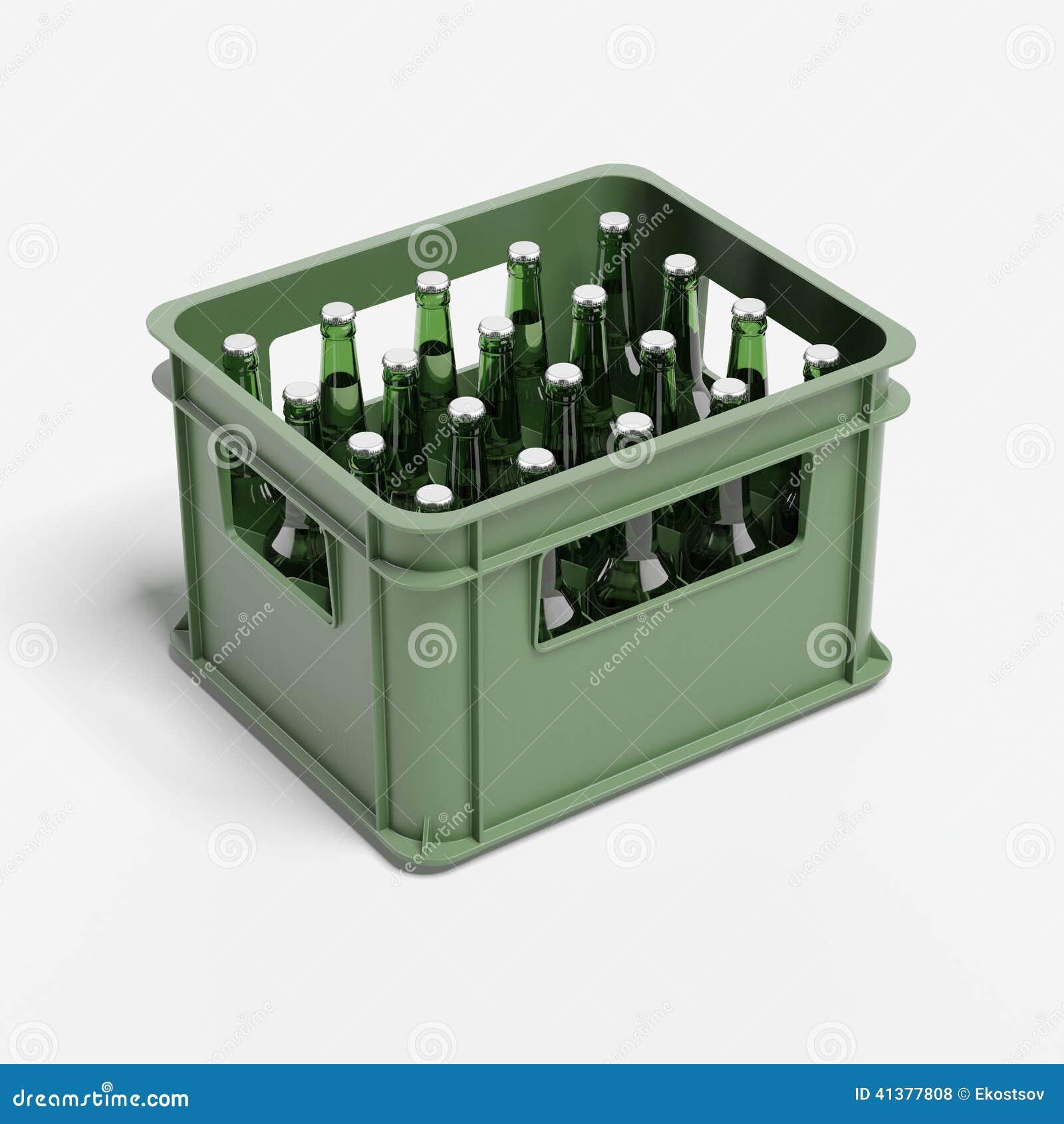 caisse plastique bouteille destin caisse de boissons avec des bouteilles bire illustration stock - Caisse Biere Plastique