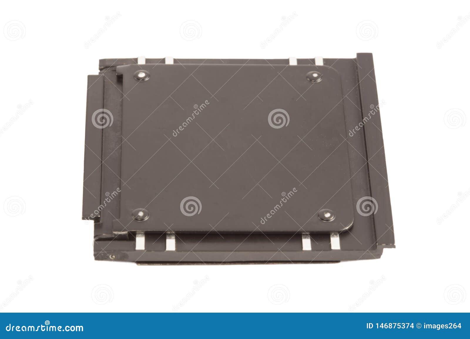 Caisse en métal de glissière de photo