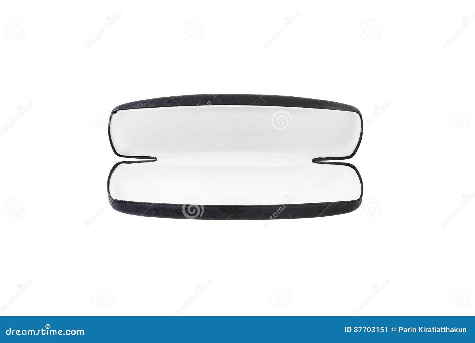 Caisse en verre d isolement sur le fond blanc