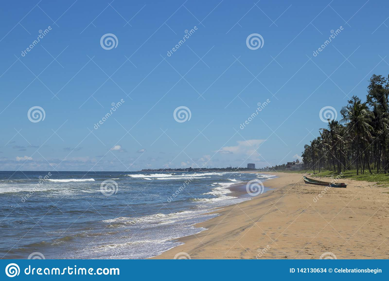 Caisse enregistreuse électronique Chennai de plage de vacances d été