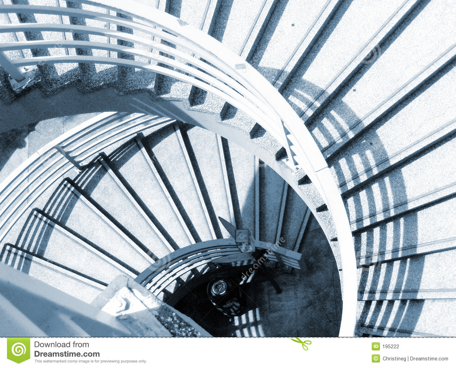 Caisse spiralée d escalier