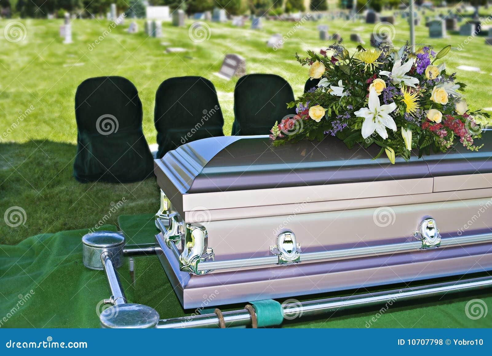 Caixão do funeral