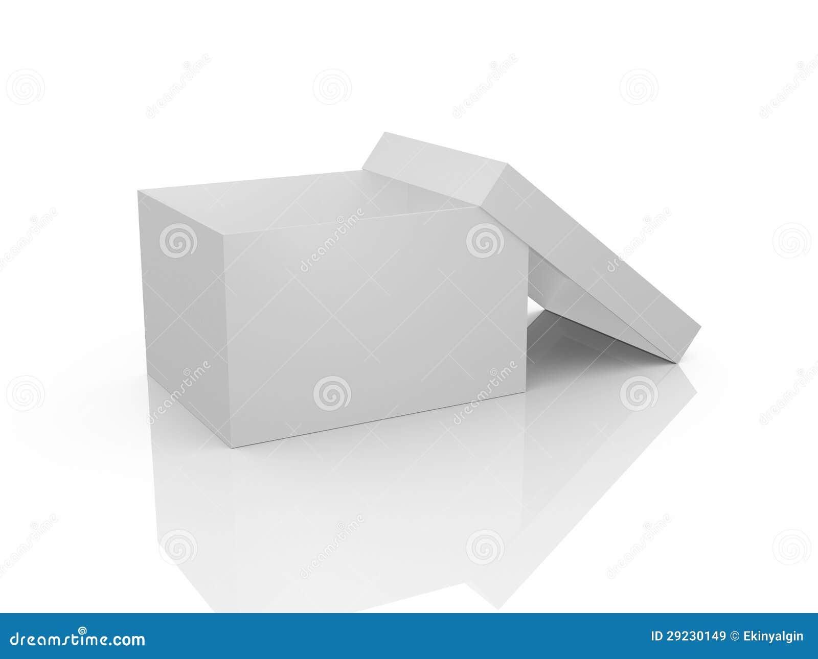 Download Caixa branca vazia ilustração stock. Ilustração de ninguém - 29230149