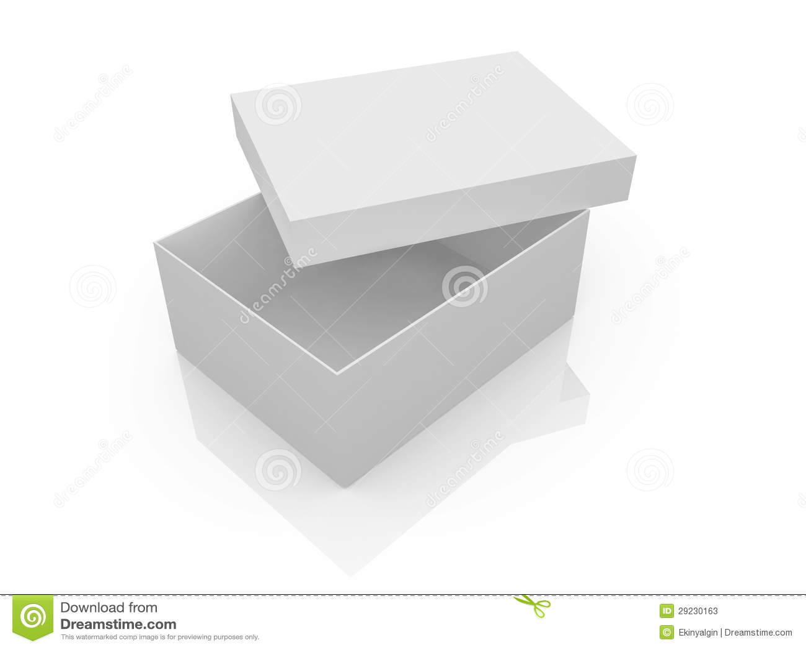 Download Caixa branca vazia ilustração stock. Ilustração de pacote - 29230163