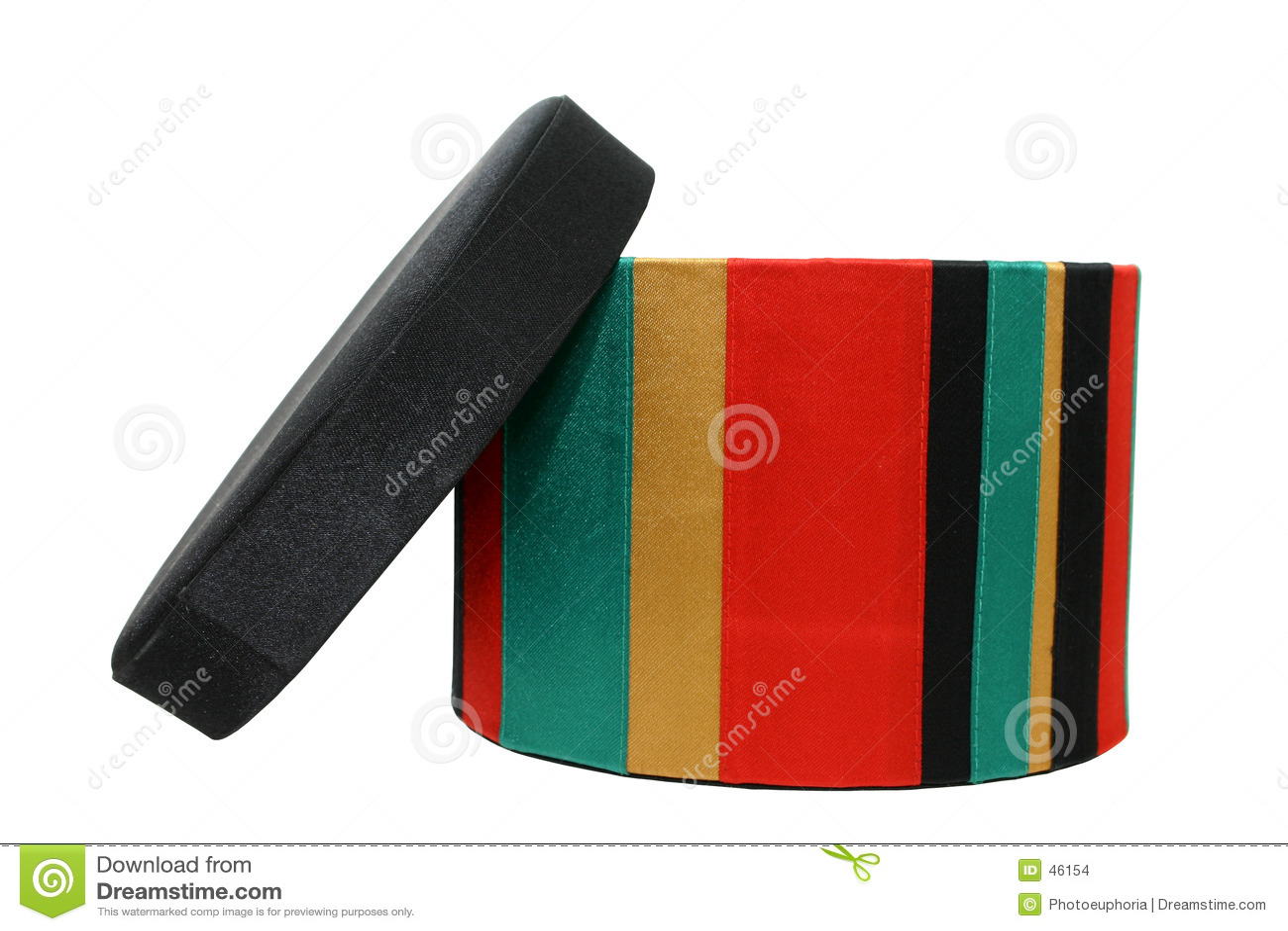 Caixa colorida isolada no trajeto branco de w/Clipping