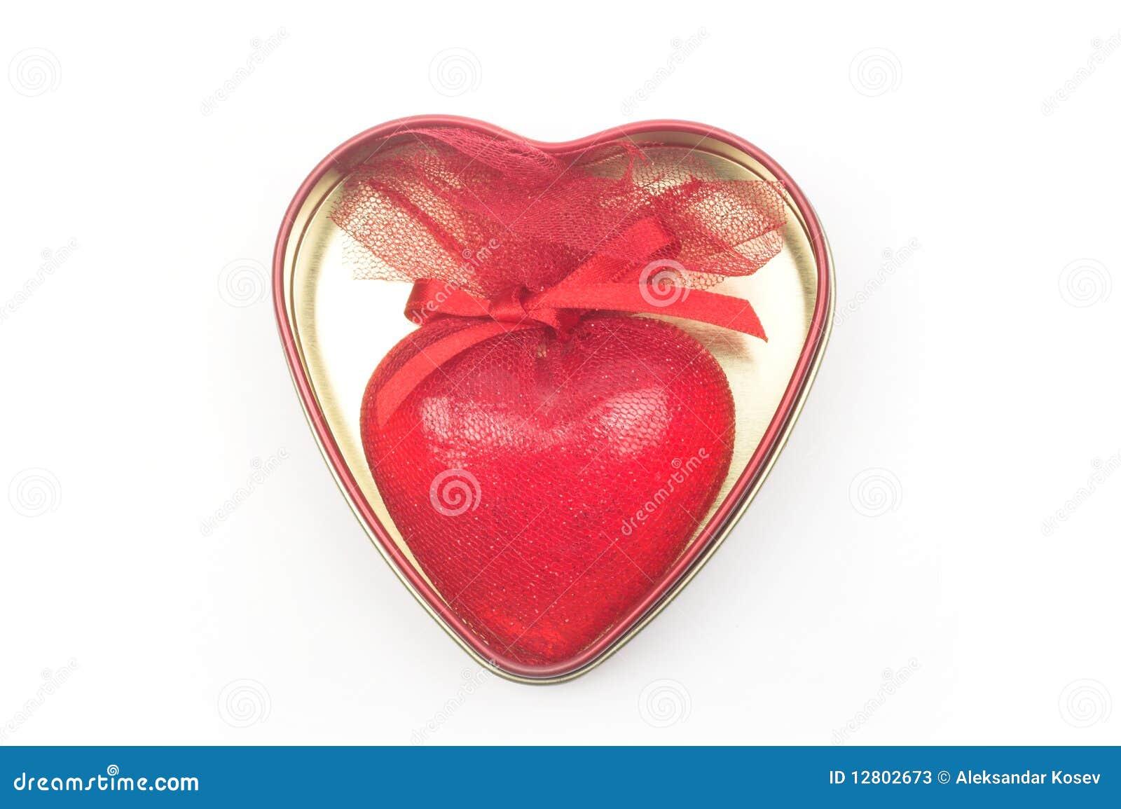 Caixa da forma do coração