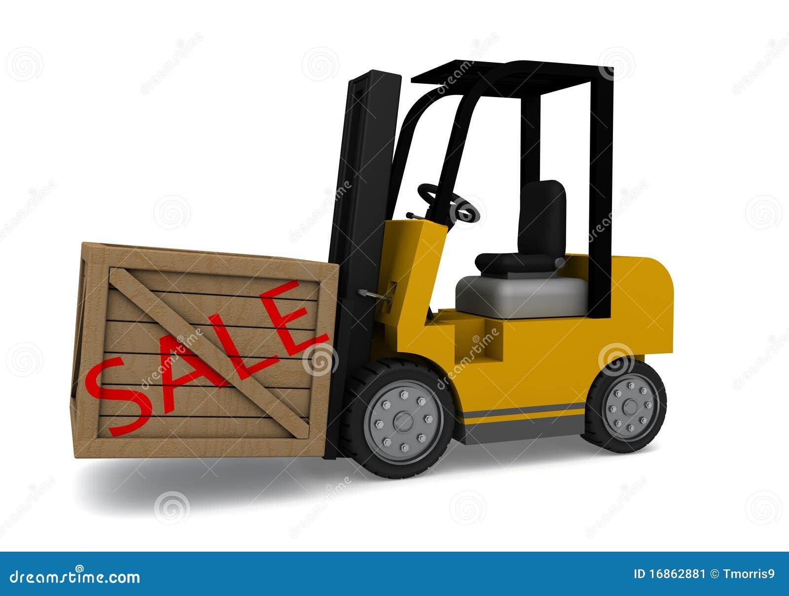 Caixa da venda do Forklift