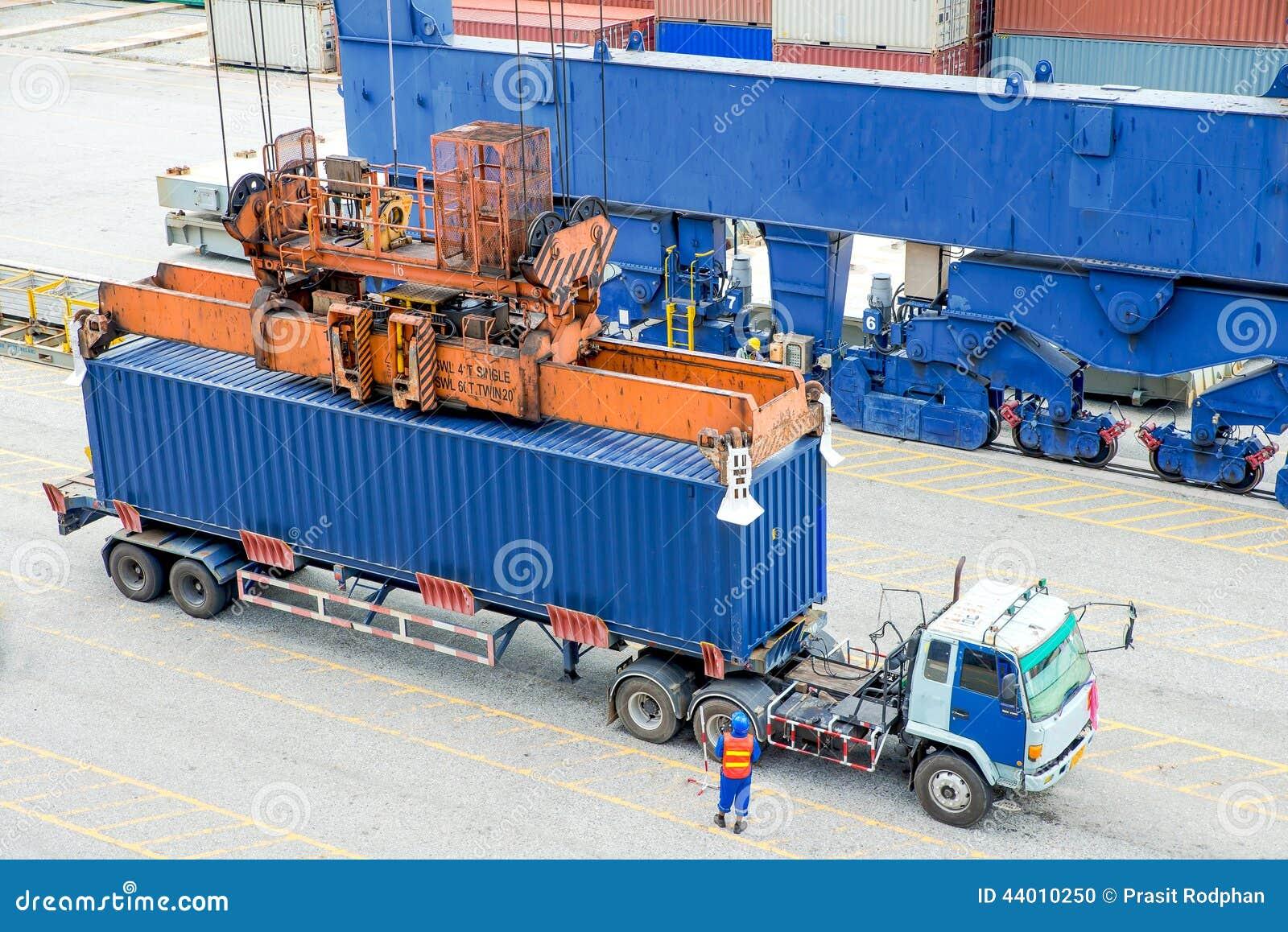 Caixa de carregamento de espera do recipiente do caminhão do recipiente ao navio de carga
