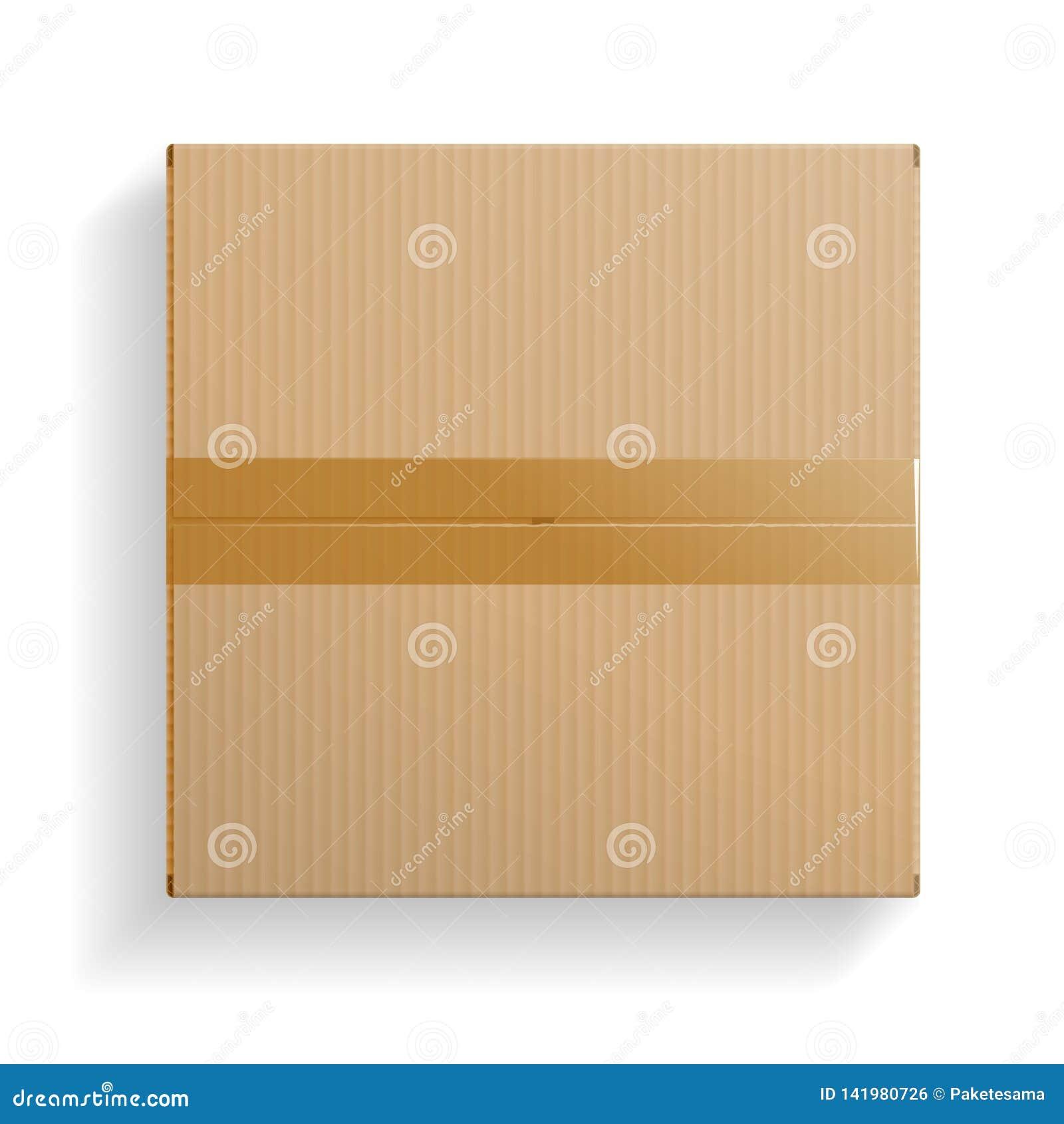 A caixa de cartão realística, abriu a vista superior