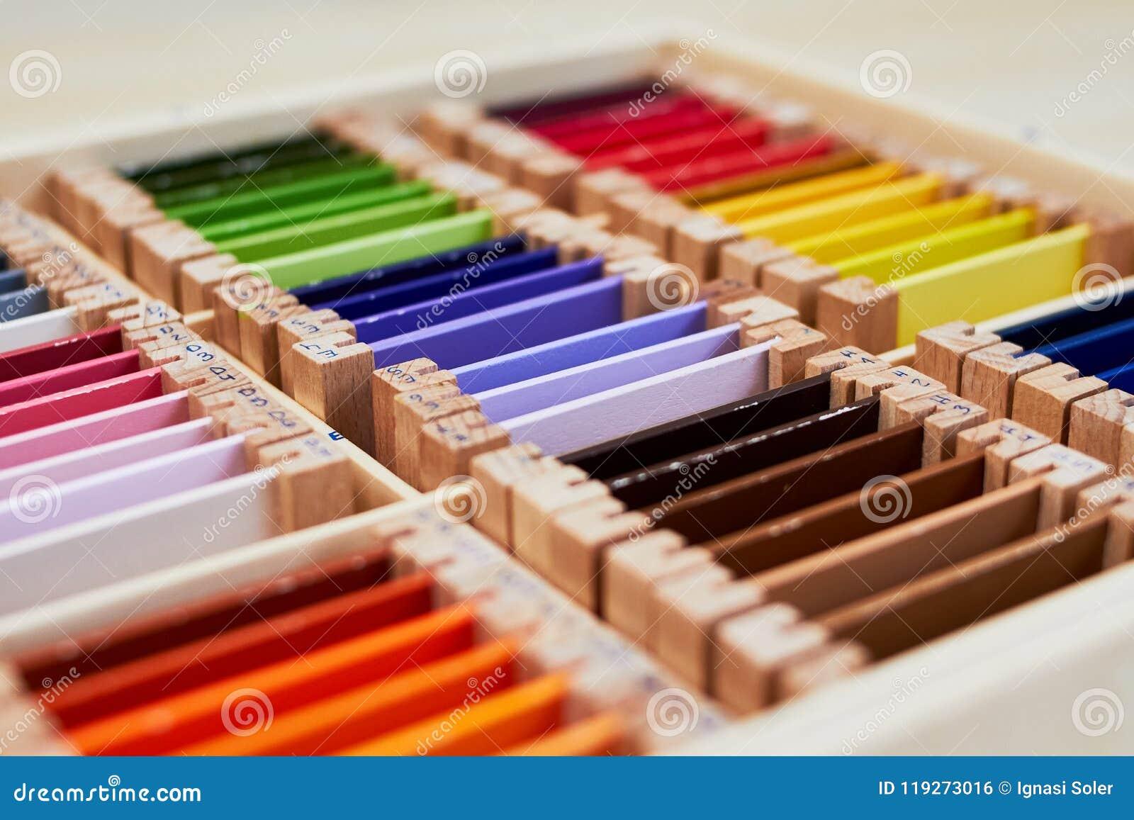 Caixa de cor 3 de Montessori