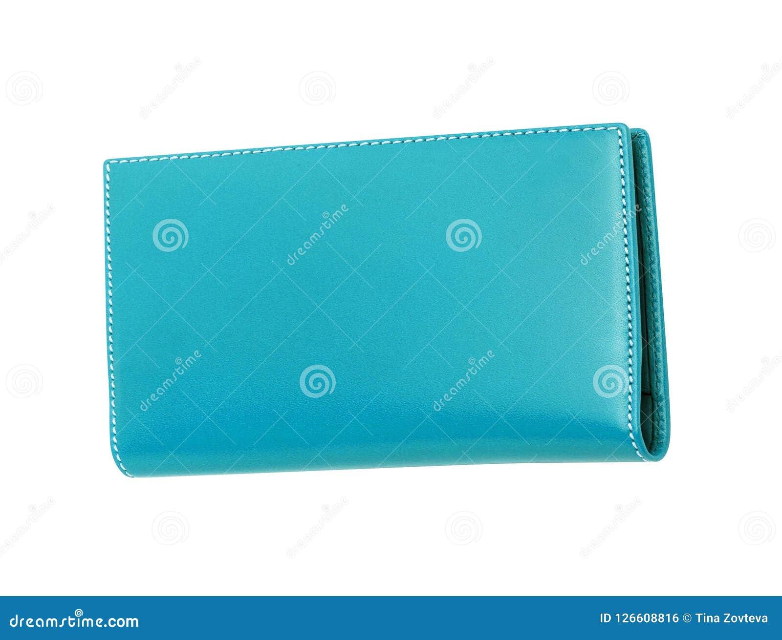 Caixa de couro azul isolada