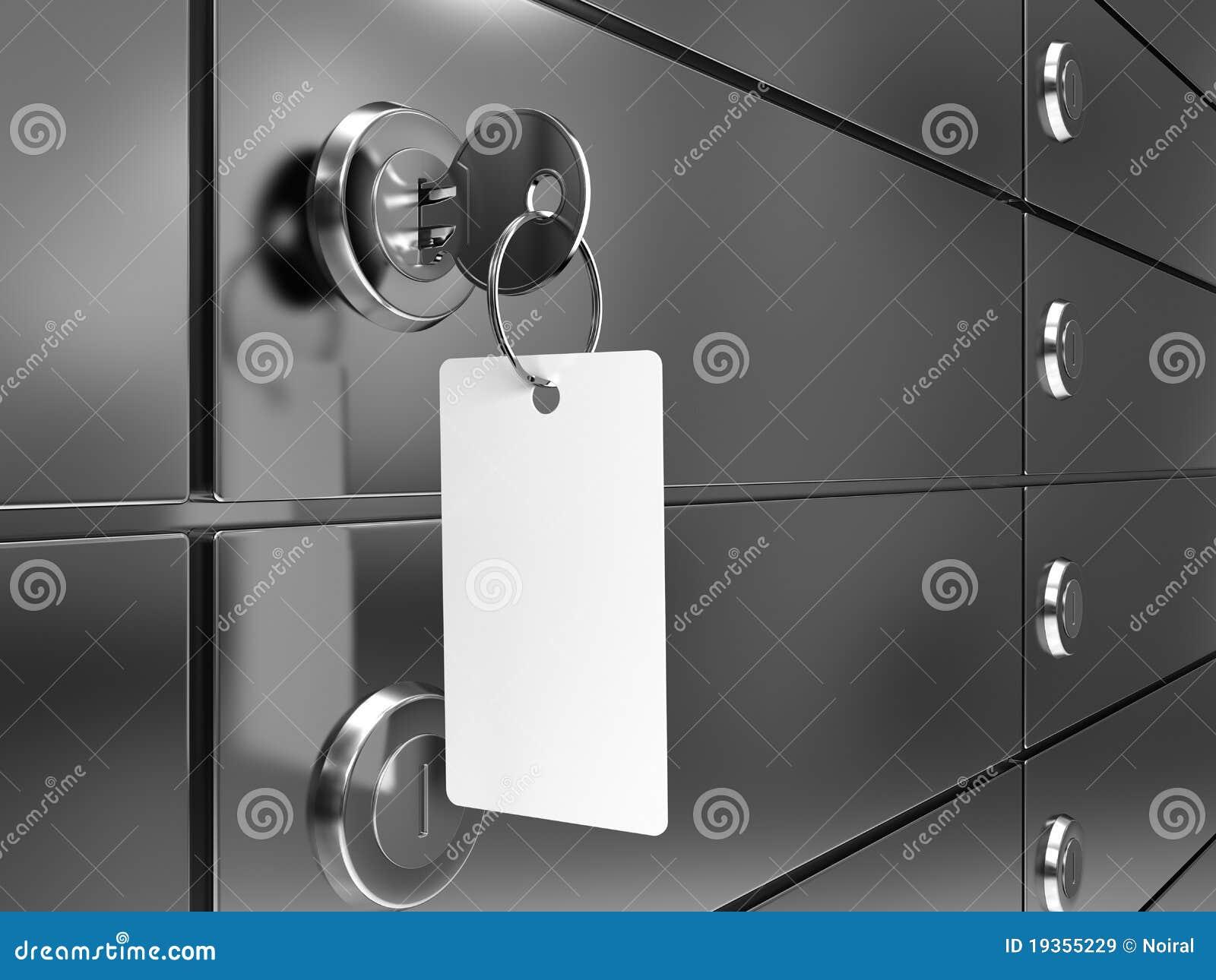 Caixa de depósito com chave