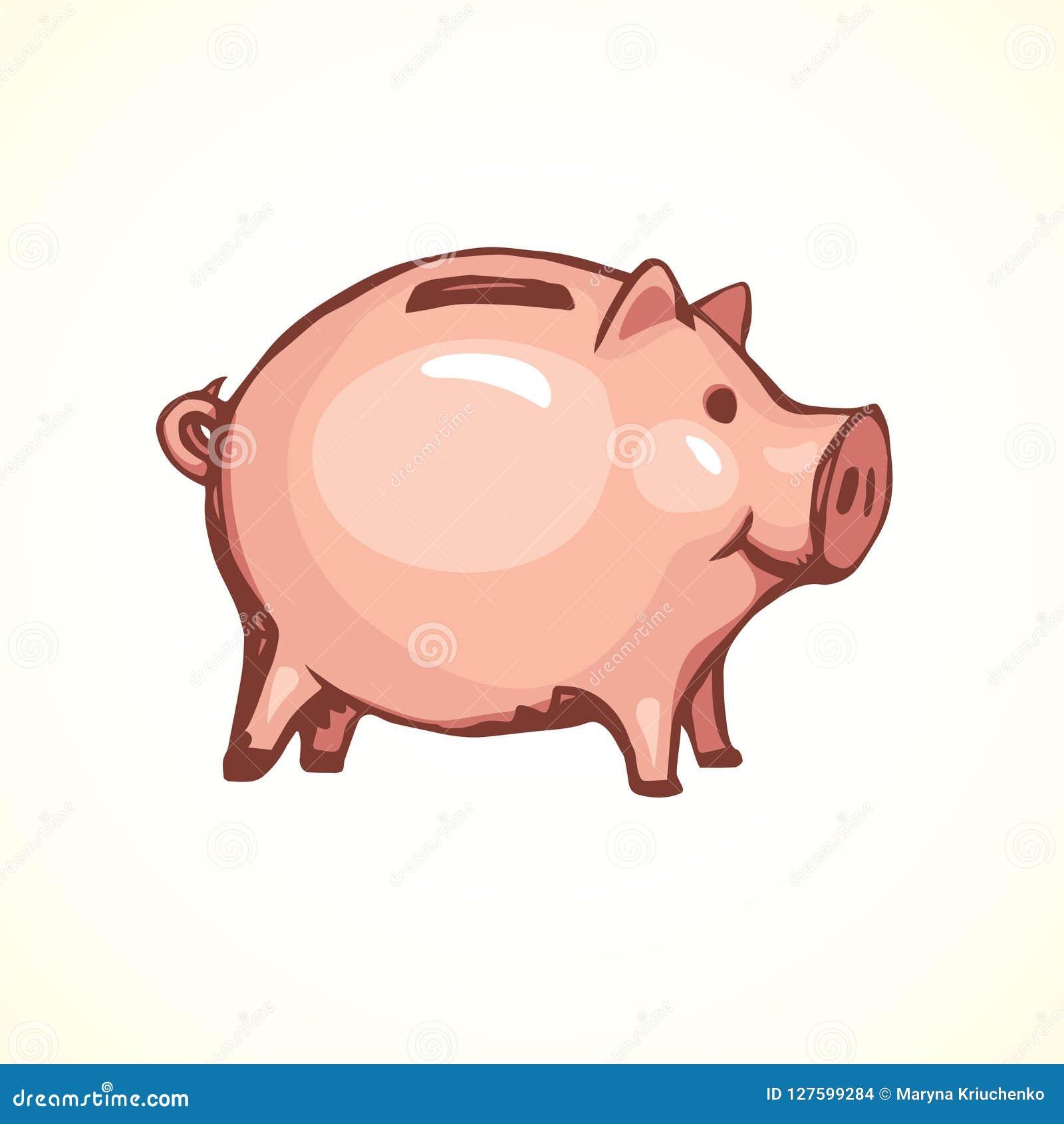 Caixa de dinheiro velho Símbolo do vetor