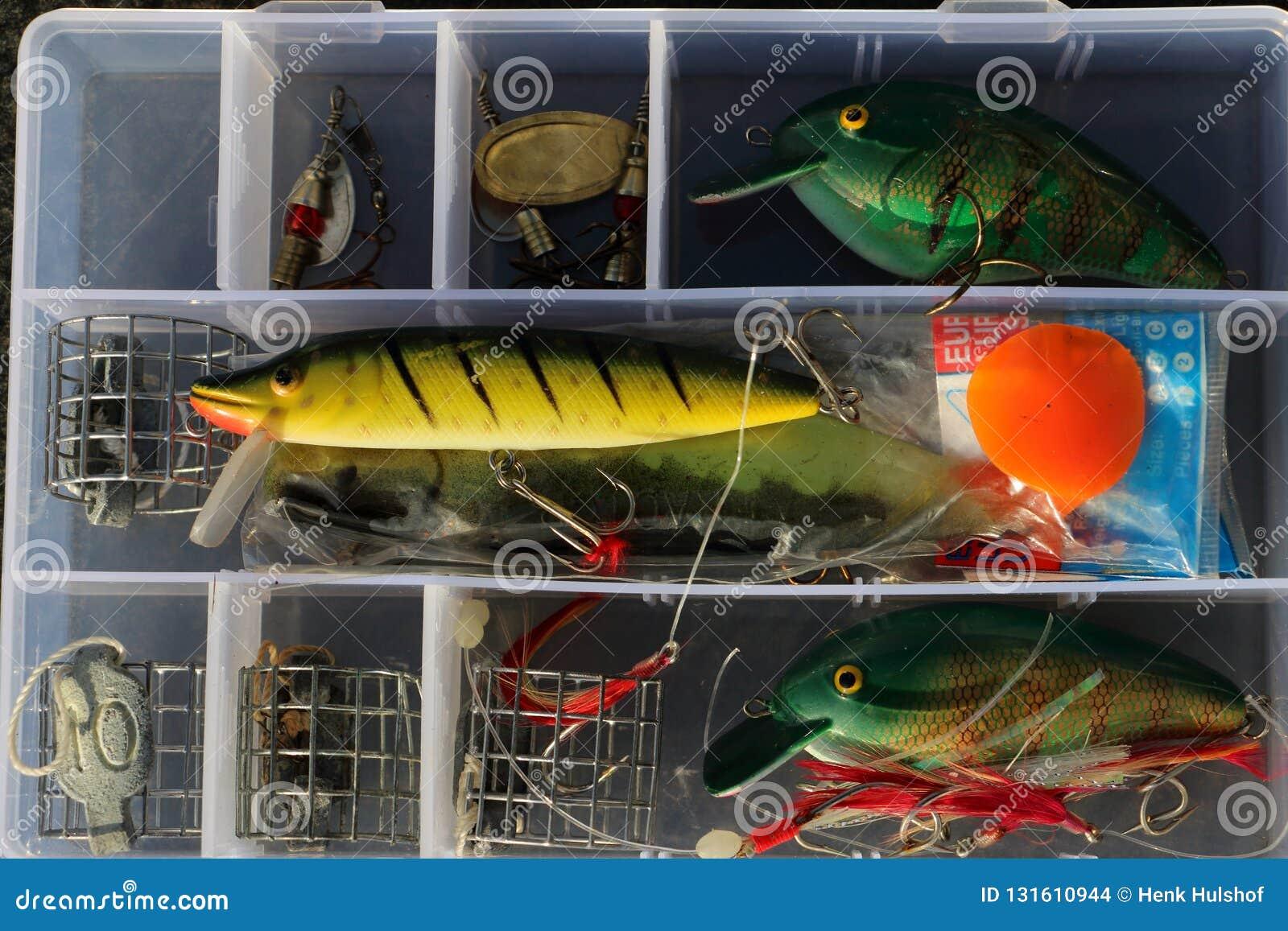 Caixa de equipamento de pesca para a recreação