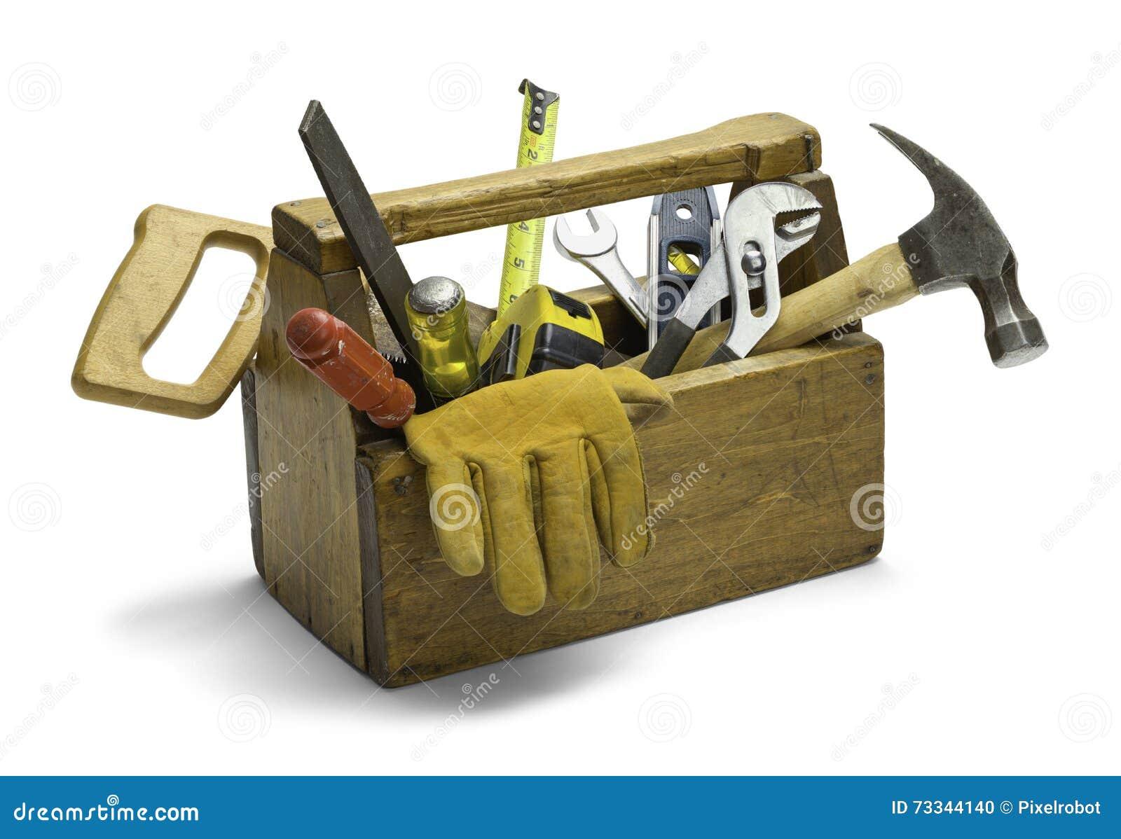 Caixa de ferramentas de madeira