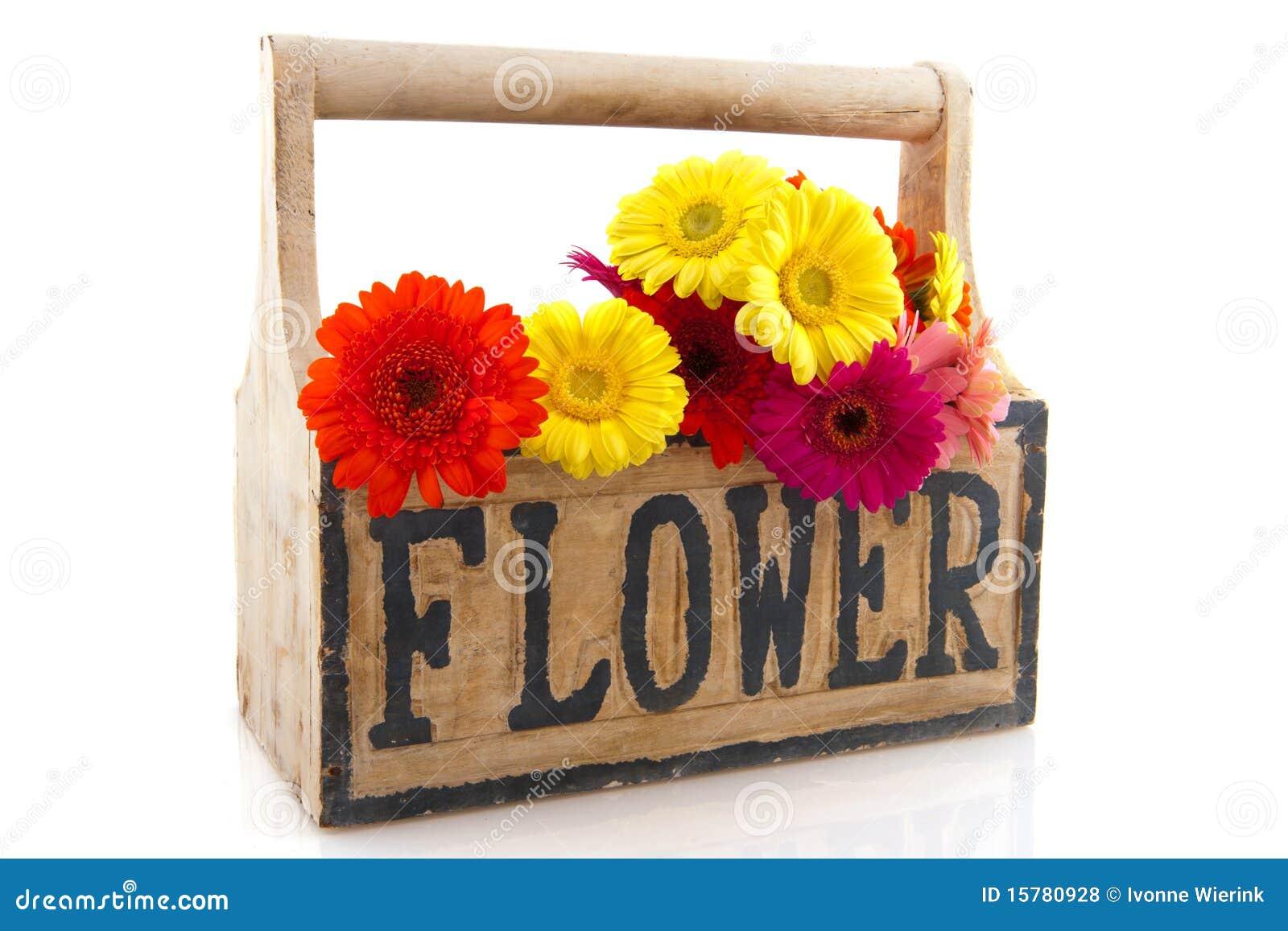 Caixa De Madeira Com Flores Fotos de Stock Royalty Free Imagem  #C2A809 1300x957