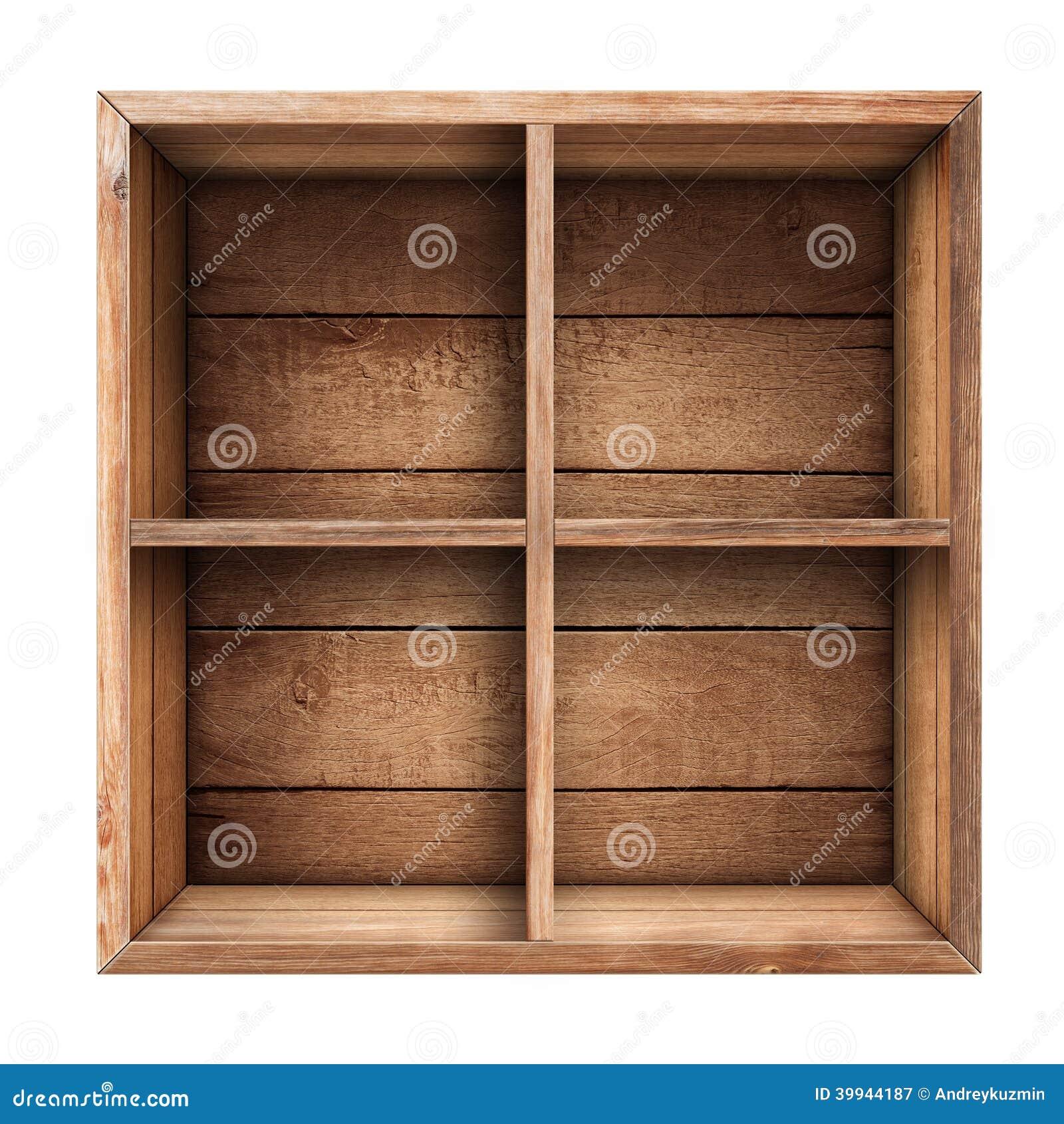 Caixa De Madeira Prateleira Ou Caixa Isolada Foto de Stock Imagem  #83A328 1300x1390
