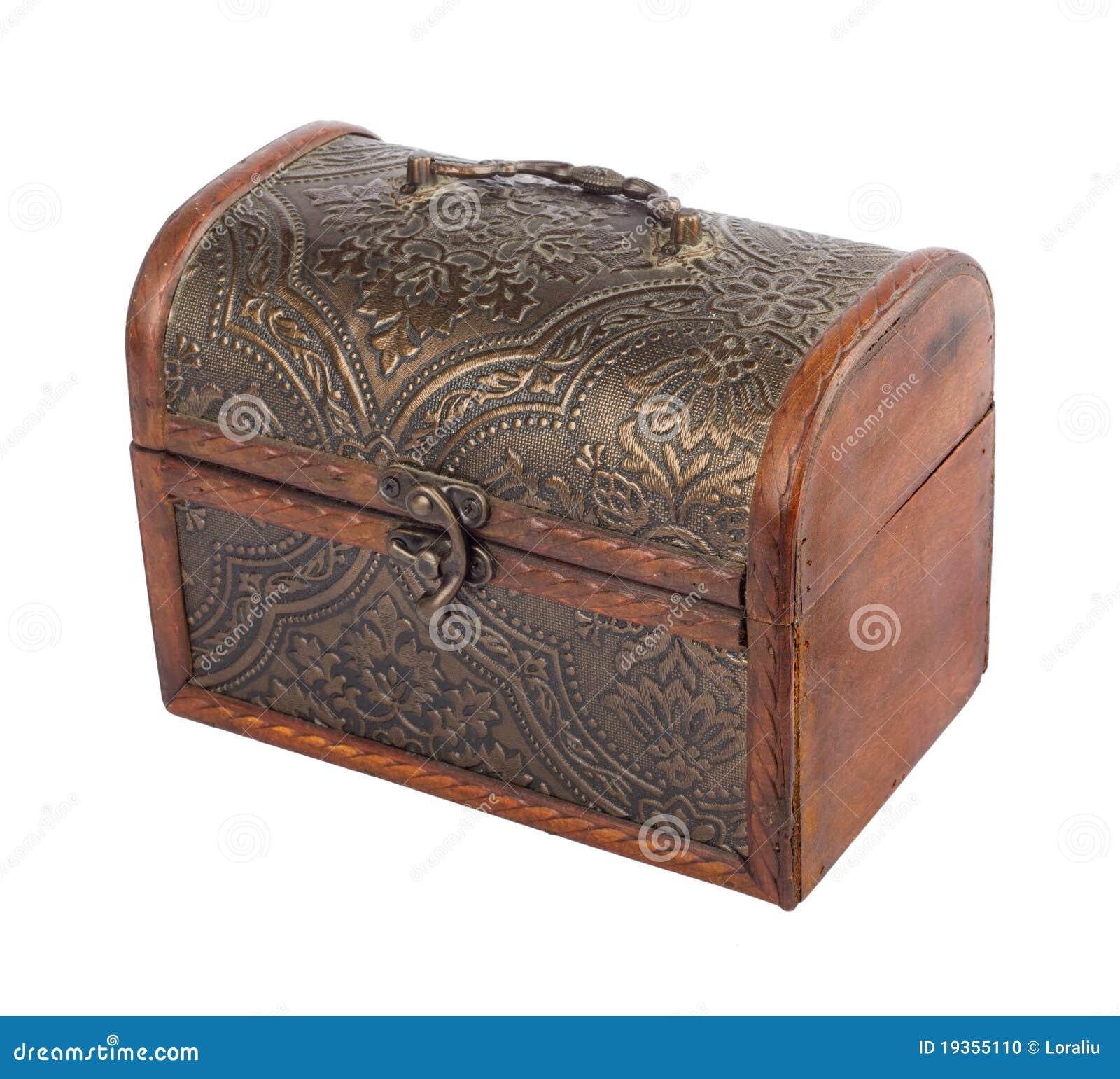A caixa de madeira velha