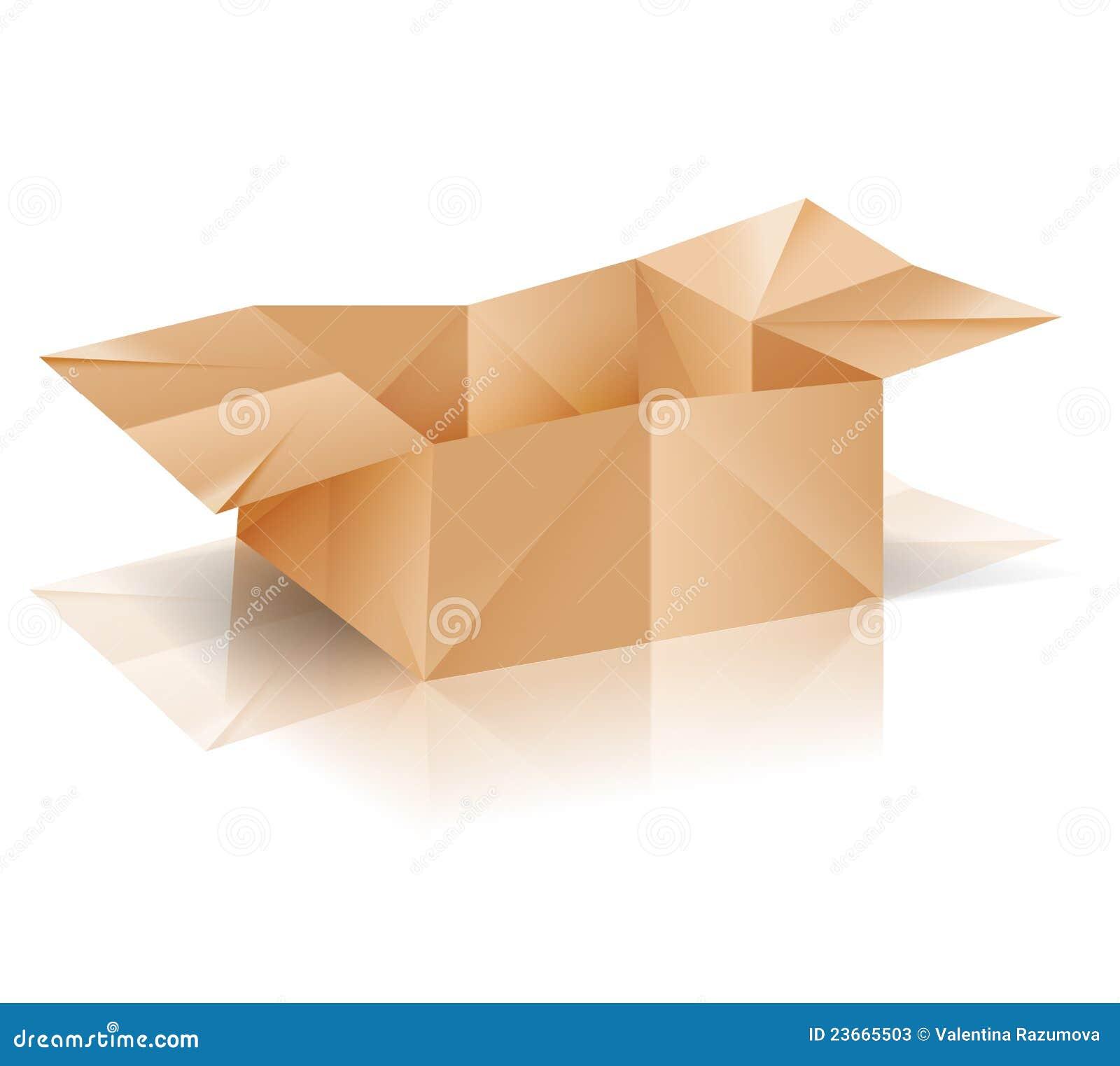 Caixa De Papel De Origami Ilustração Do Vetor Ilustração De Crate