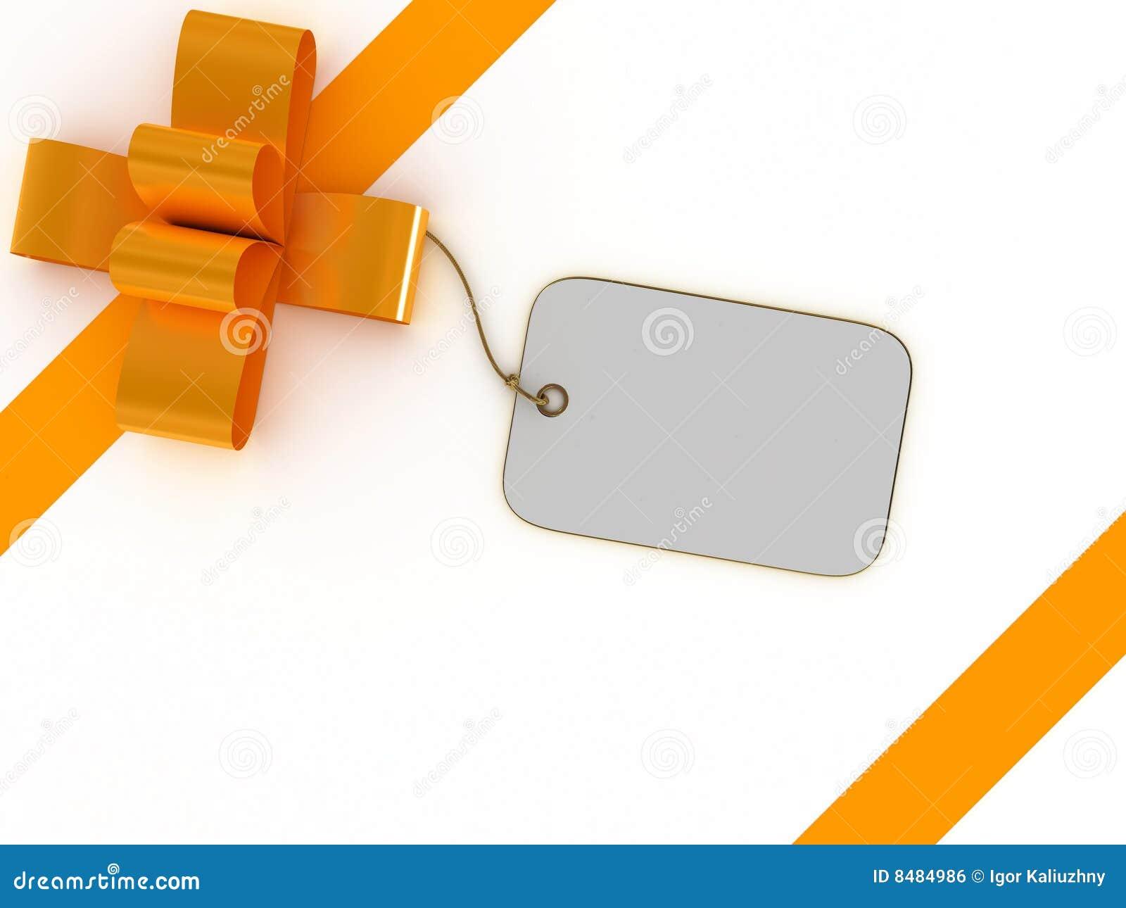 Caixa de presente com etiqueta em branco